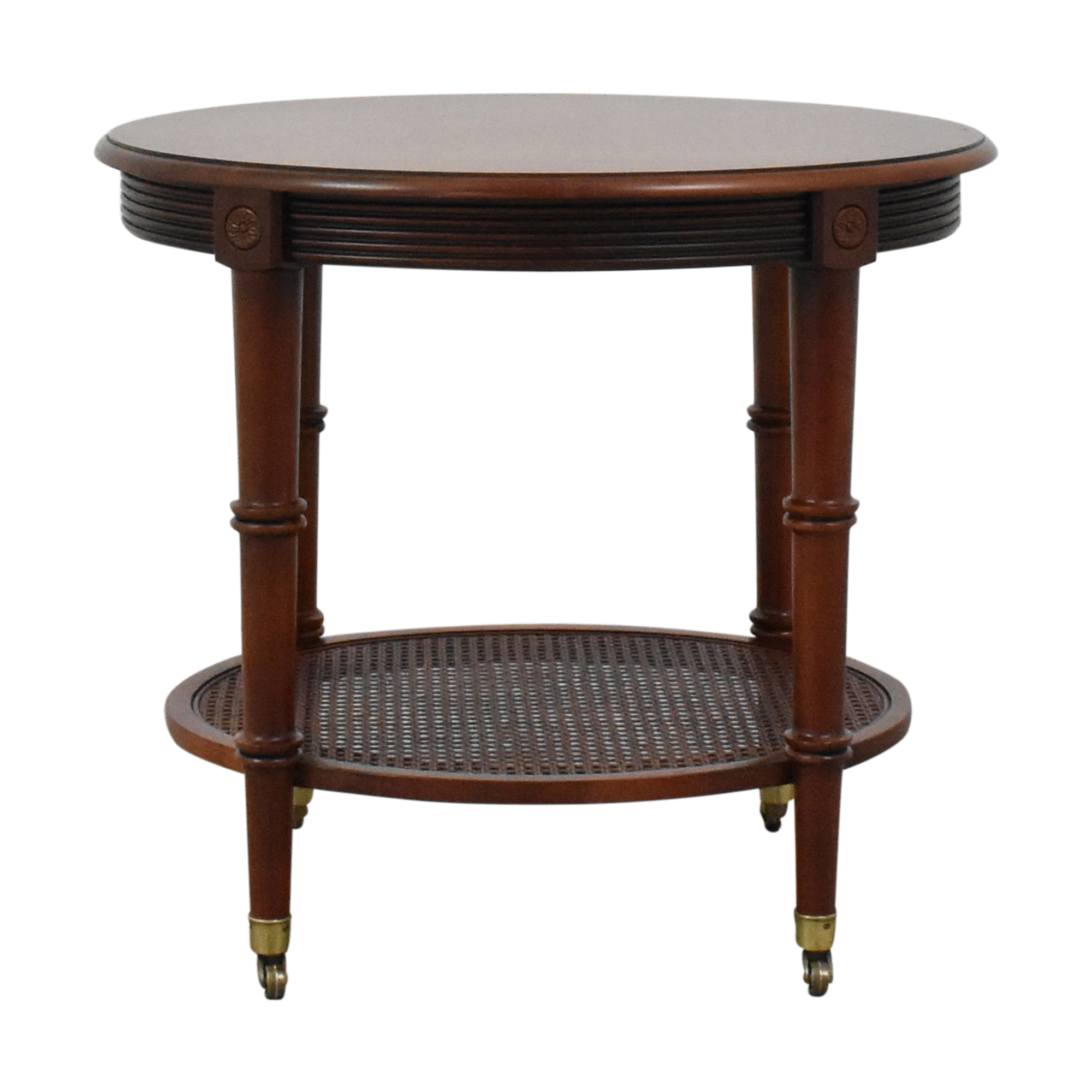 Ethan Allen Ethan Allen British Classics Oval End Table ma