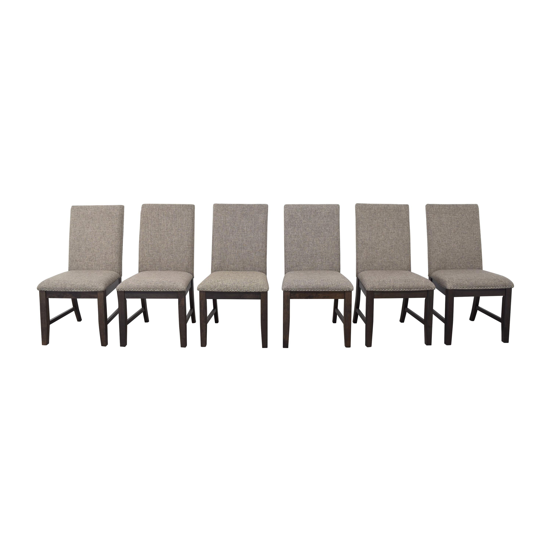 Raymour & Flanigan Raymour & Flanigan Balin Dining Chairs brown