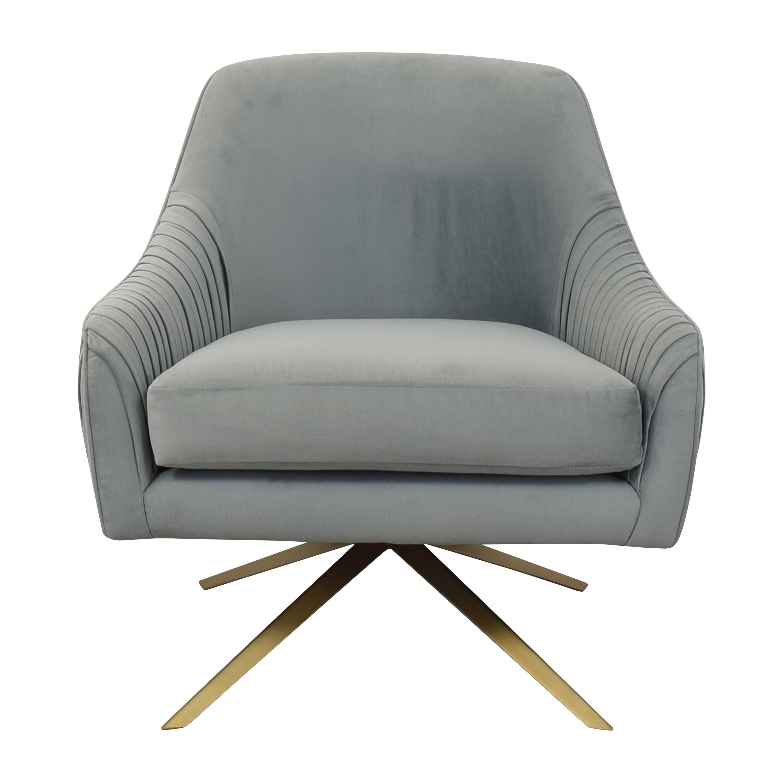 West Elm Roar & Rabbit Pleated Swivel Chair sale