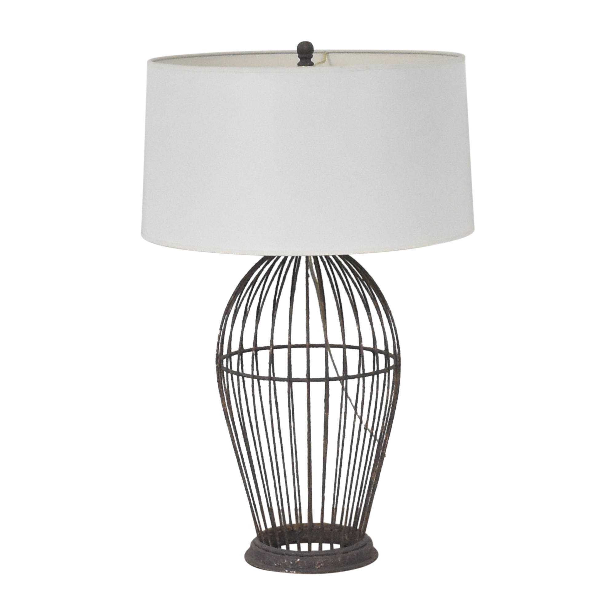 Ethan Allen Ethan Allen Brody Open Cage Table Lamp white & black