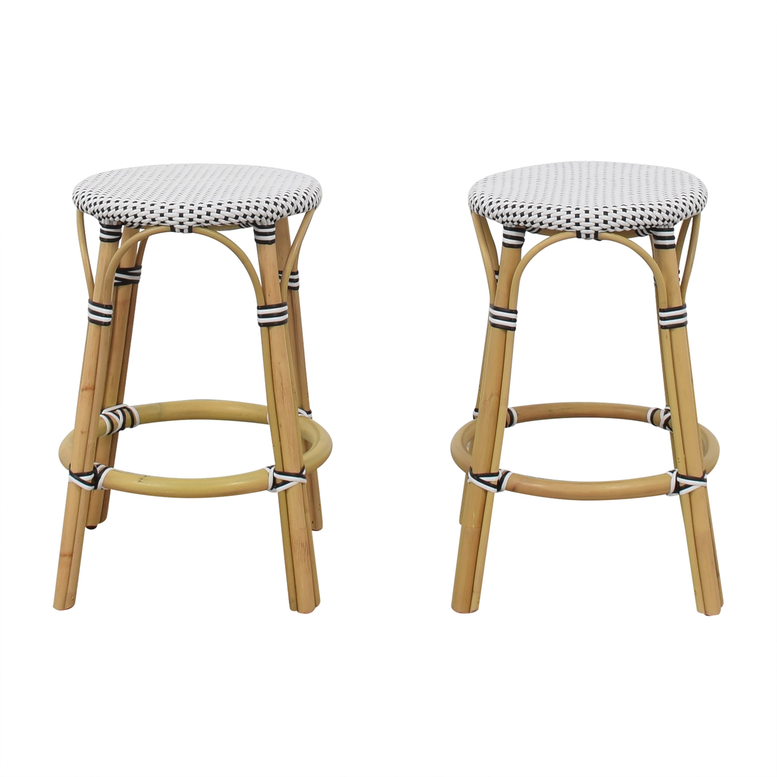 Butler Specialty Butler Specialty Tobias Rattan Counter Stools for sale