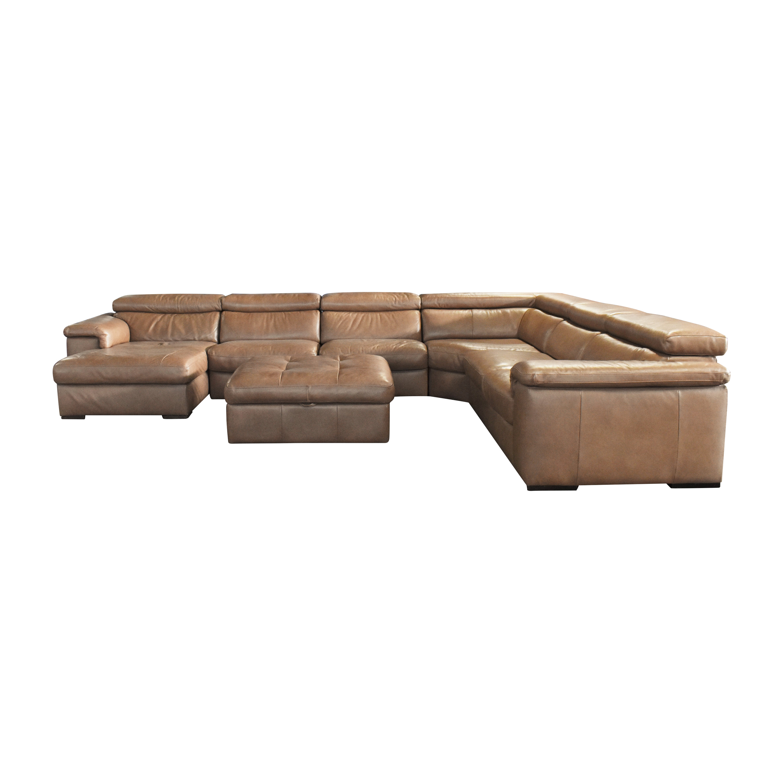 Natuzzi Natuzzi for Macy's Gavin Sectional Sofa with Storage Ottoman price