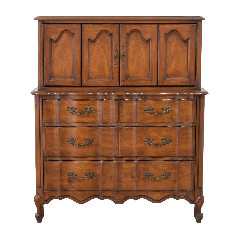buy White Fine Furniture Three Drawer Dresser with Cabinet White Fine Furniture Dressers
