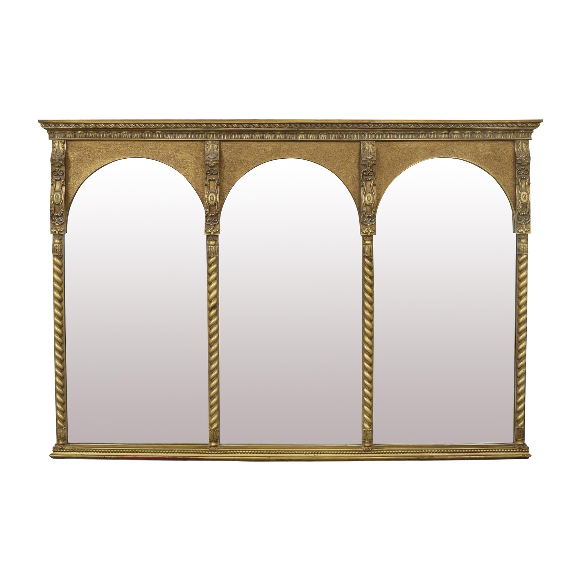 Triple Paned Trumeau Mirror used