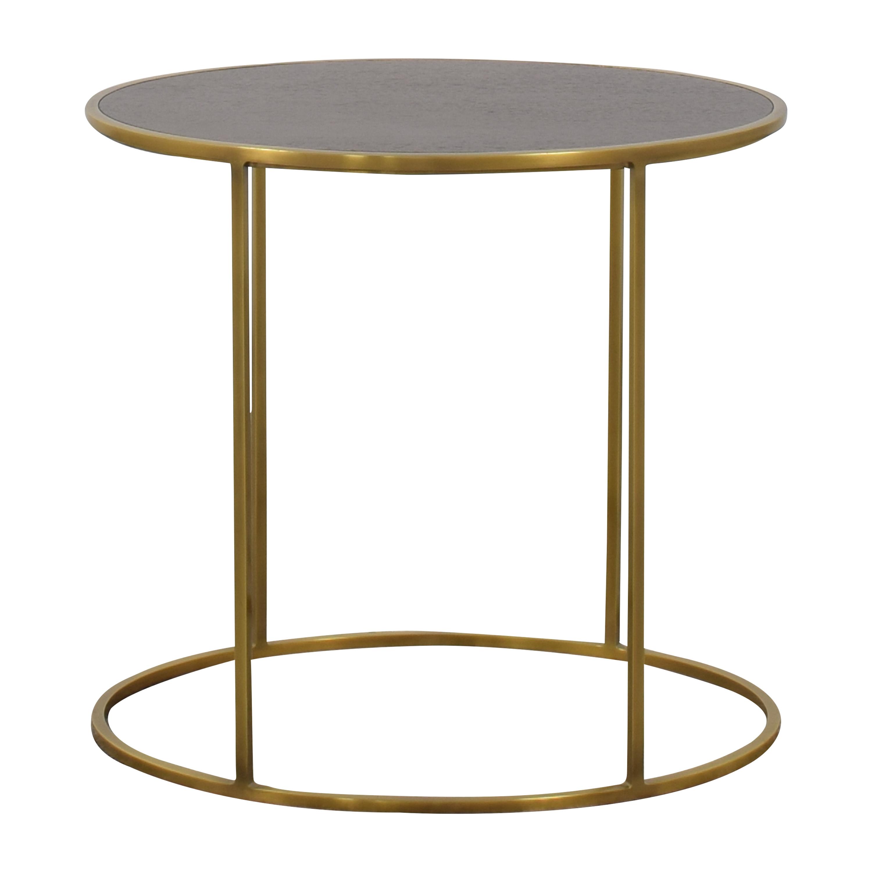 shop Restoration Hardware Monroe Slimline Oval Side Table Restoration Hardware End Tables