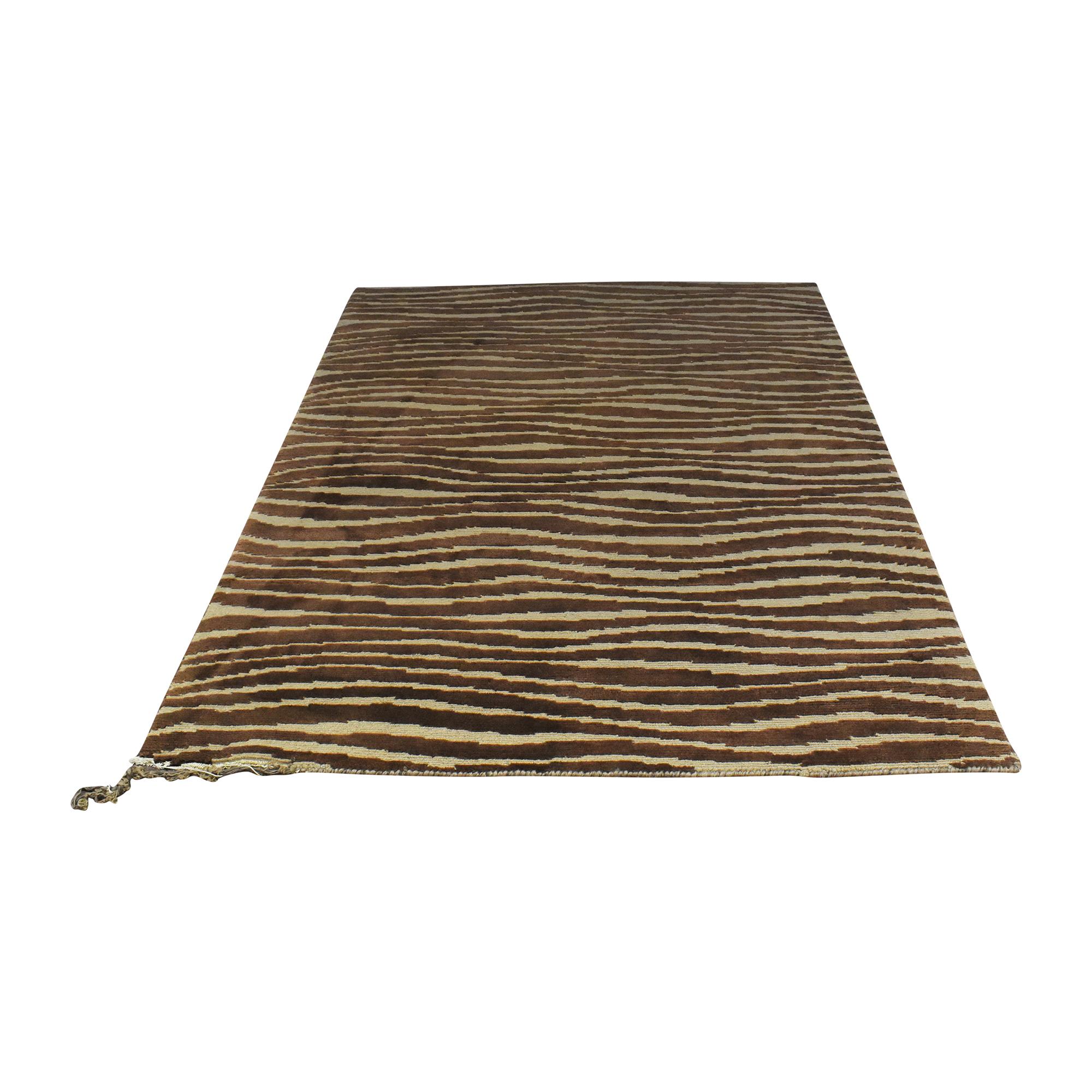 ABC Carpet & Home ABC Carpet & Home Striped Area Rug second hand