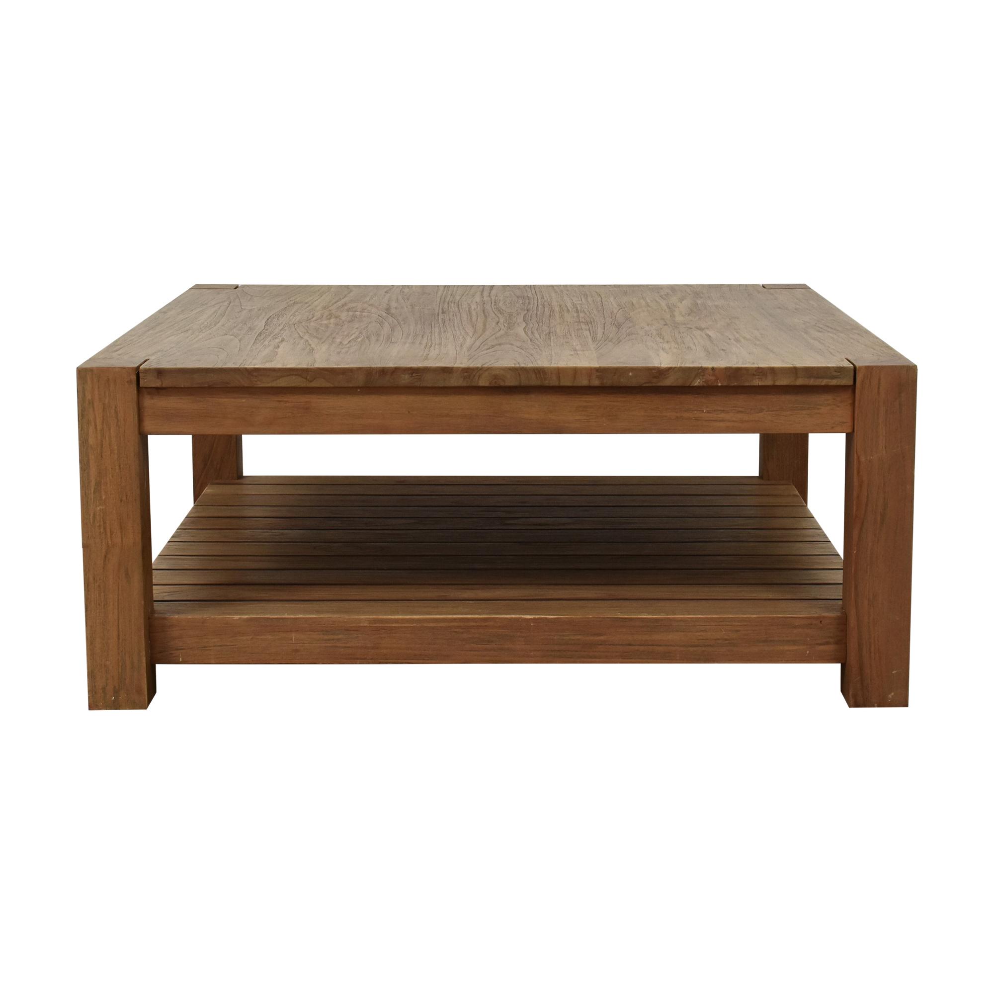 Crate & Barrel Crate & Barrel Edgewood Square Coffee Table ma
