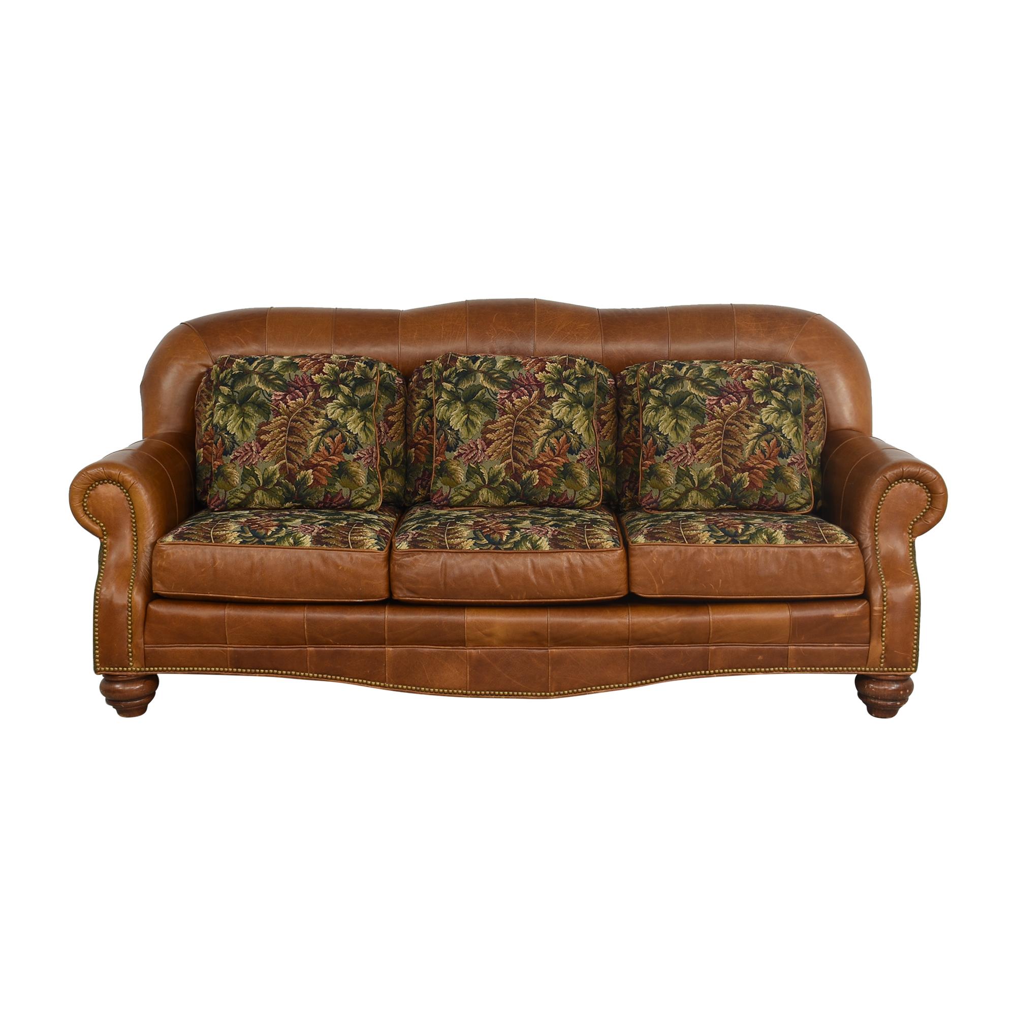 buy Three Cushion Nailhead Roll Arm Sofa