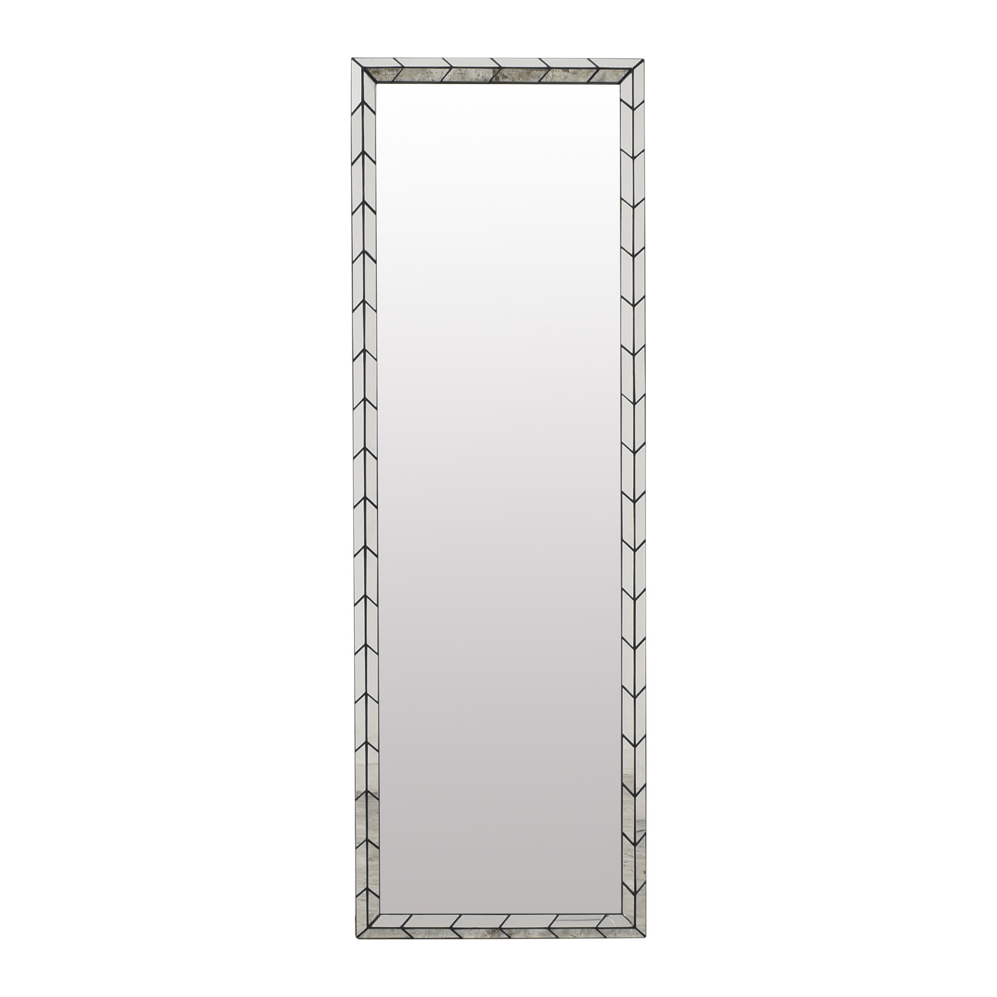 buy West Elm West Elm Chevron Tile Floor Mirror online