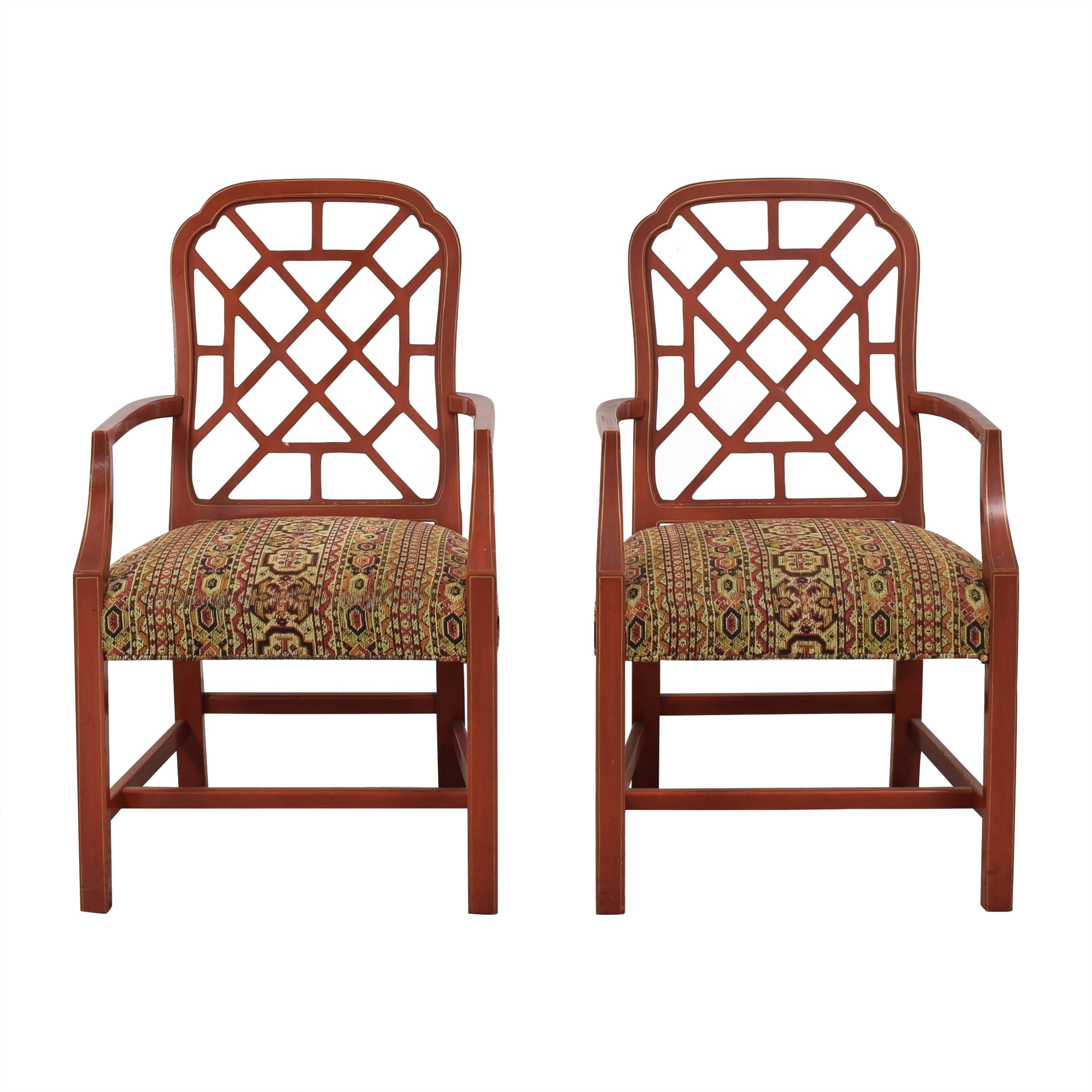 shop Kindel Hollywood Regency Dining Arm Chairs Kindel Dining Chairs