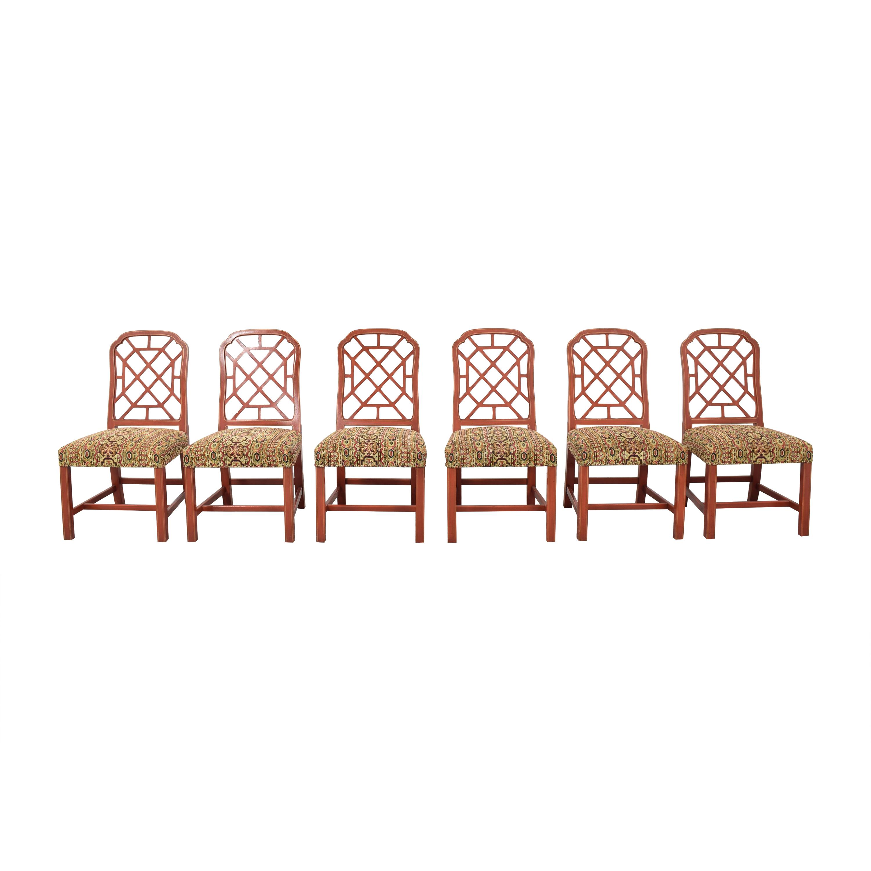 Kindel Kindel Hollywood Regency Dining Side Chairs