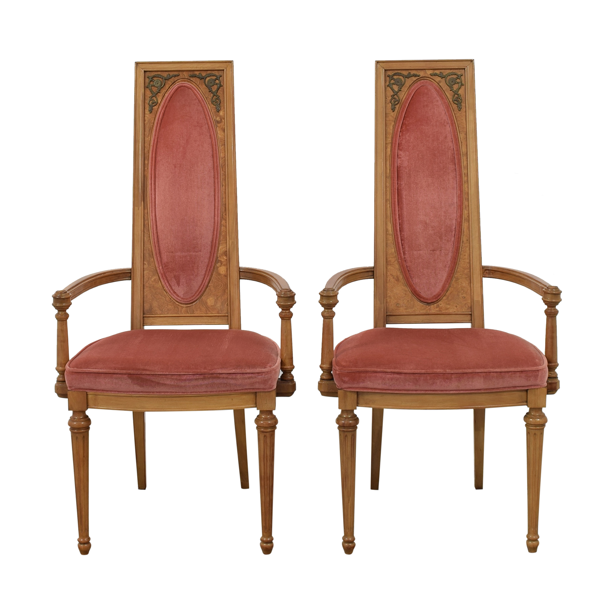 Custom High Back Dining Arm Chairs / Dining Chairs