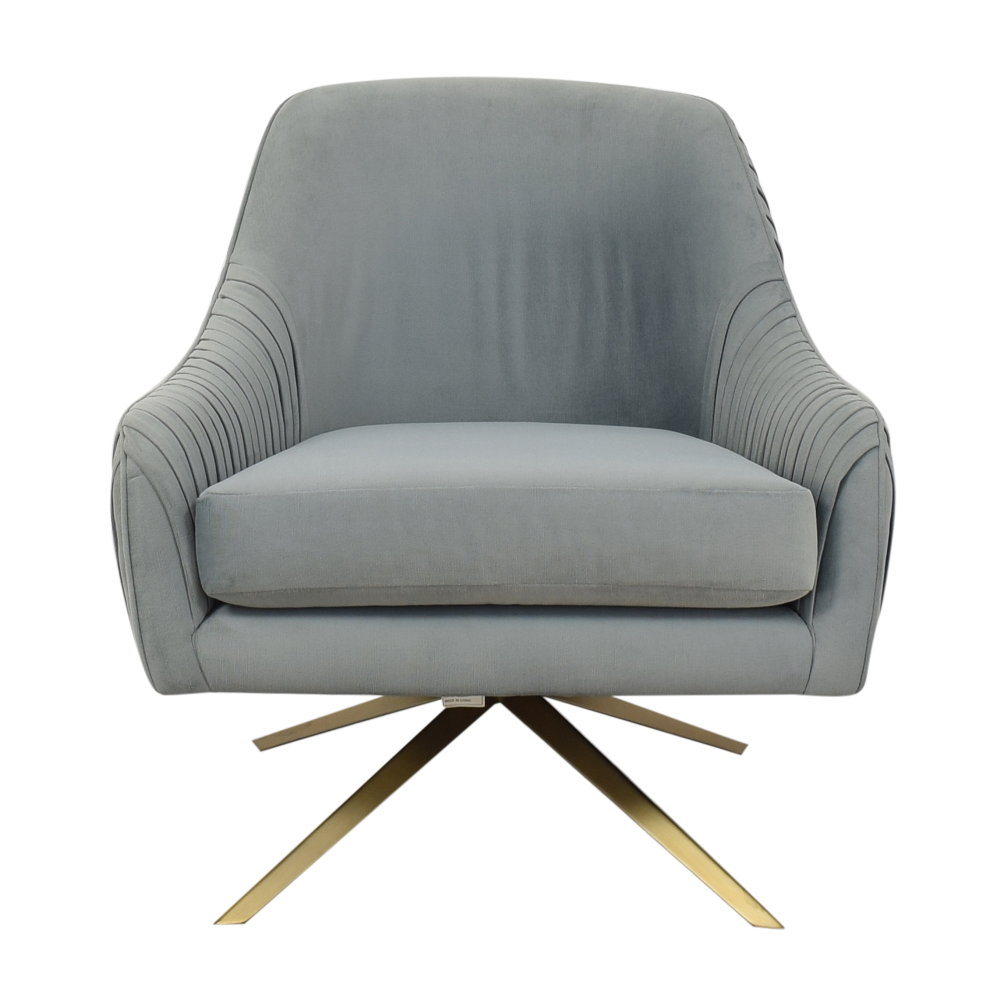 West Elm Roar & Rabbit Pleated Swivel Chair West Elm