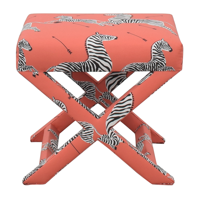 shop The Inside Coral Zebra X Bench The Inside