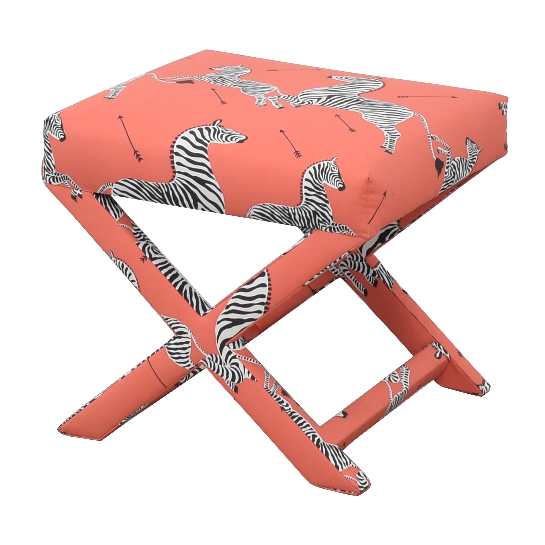 buy The Inside Coral Zebra X Bench The Inside Ottomans