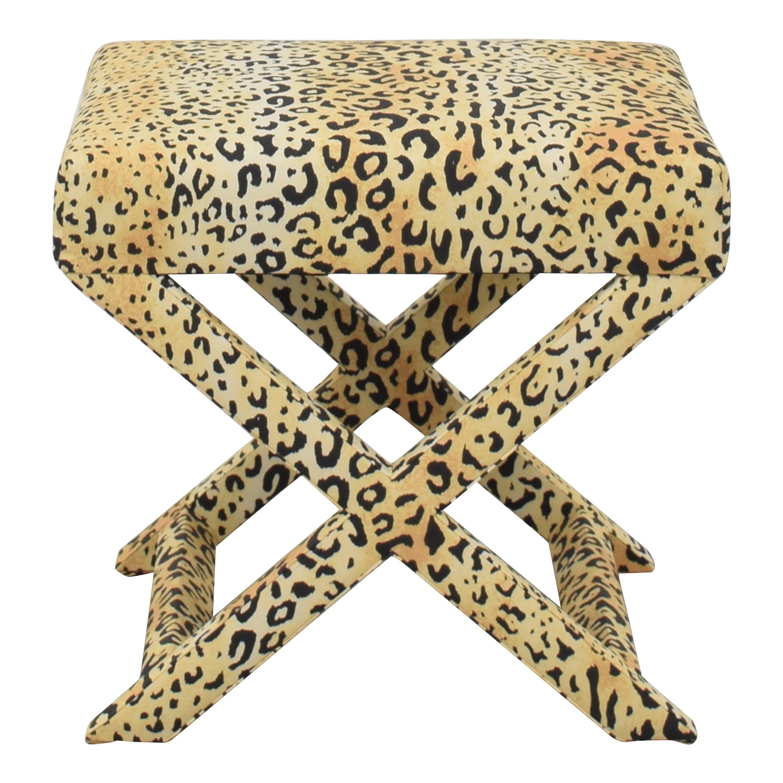 shop The Inside Leopard X Bench The Inside Ottomans