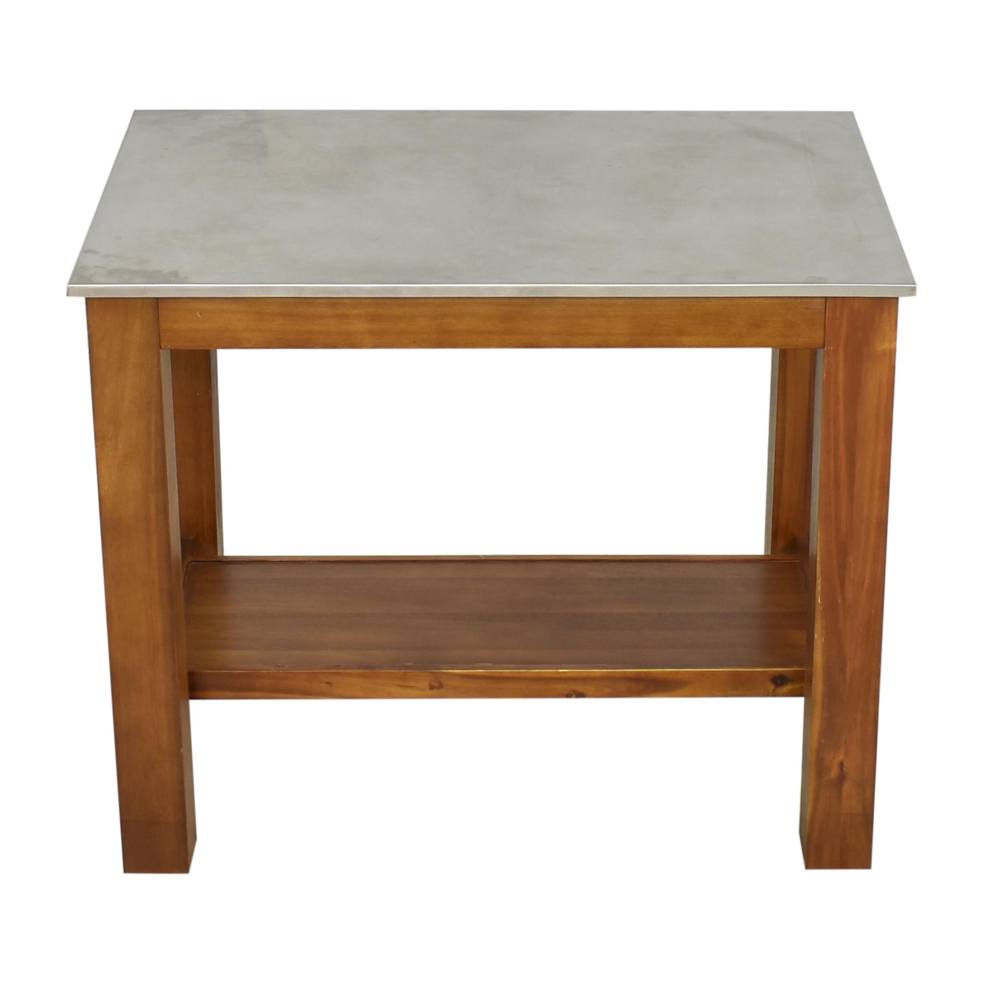 buy West Elm Rustic Kitchen Island West Elm Utility Tables
