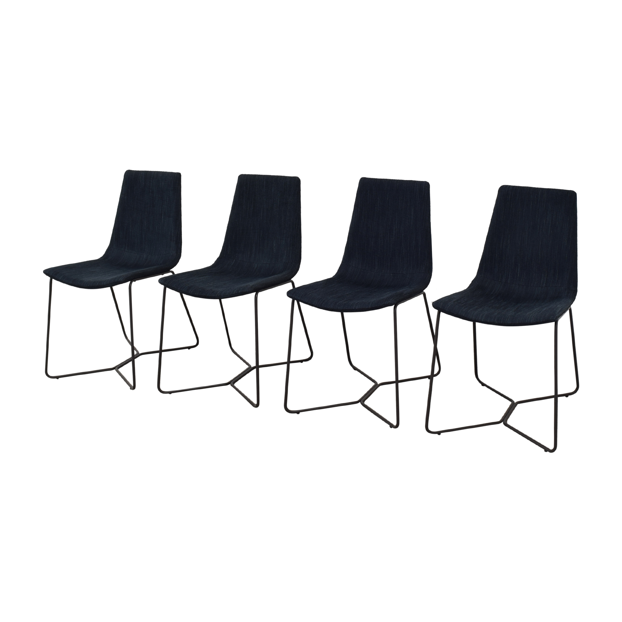 West Elm West Elm Slope Upholstered Dining Chairs Dining Chairs