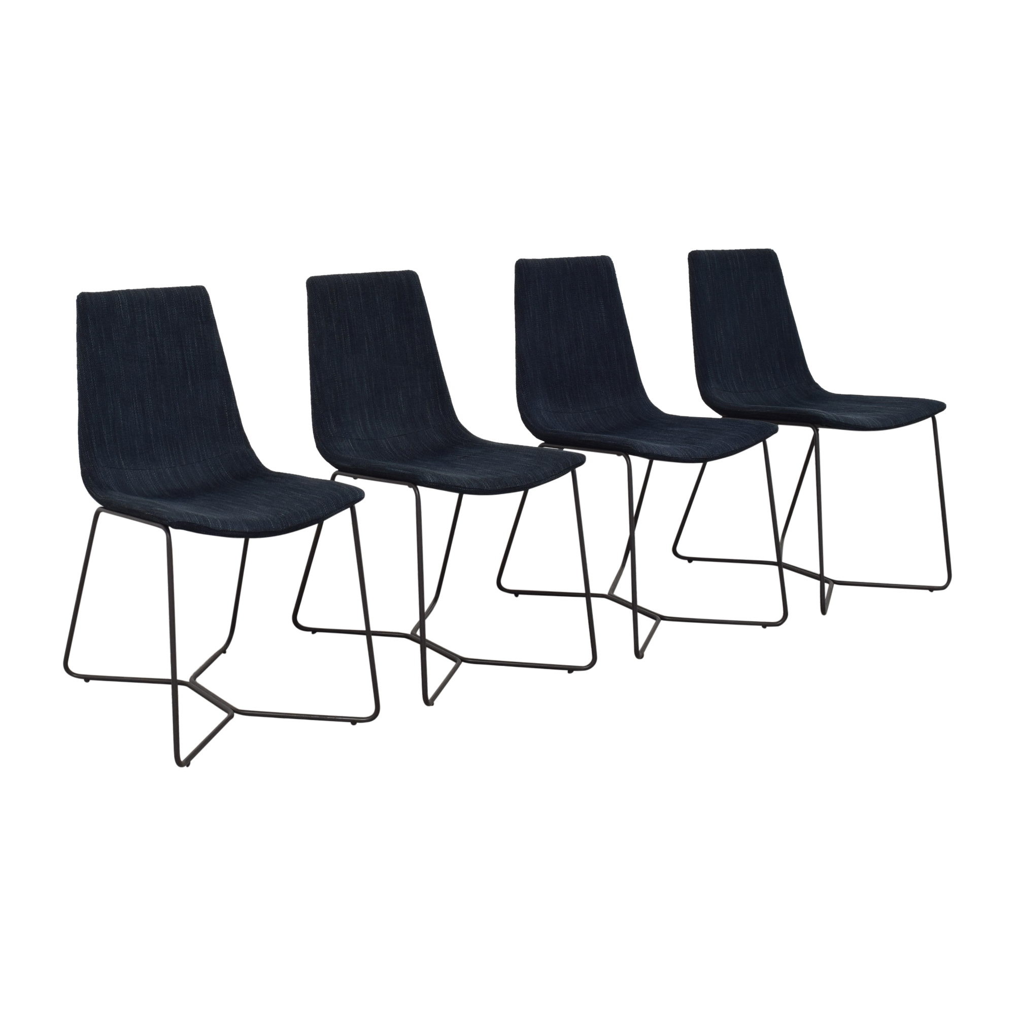 shop West Elm Slope Upholstered Dining Chairs West Elm Chairs