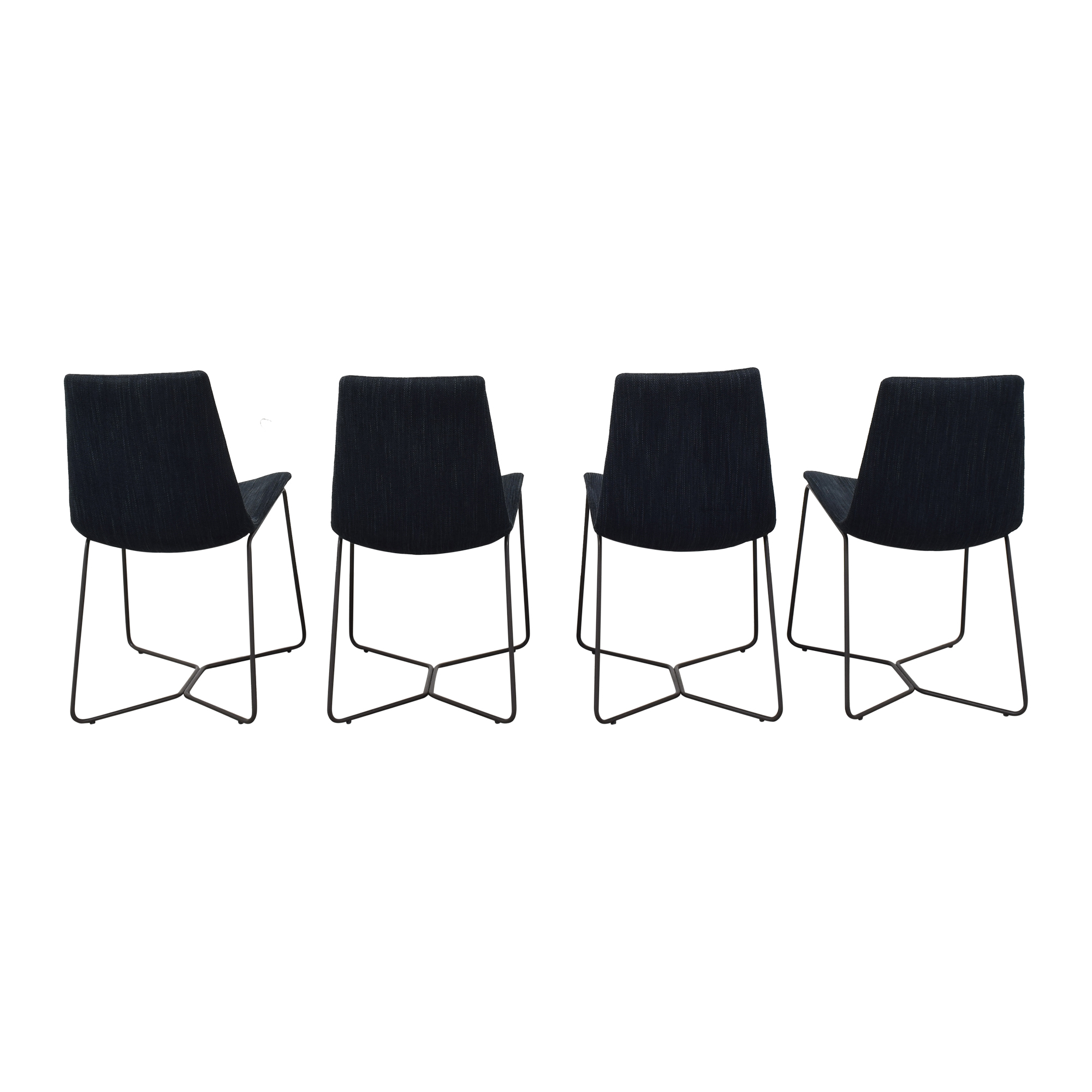 West Elm West Elm Slope Upholstered Dining Chairs on sale