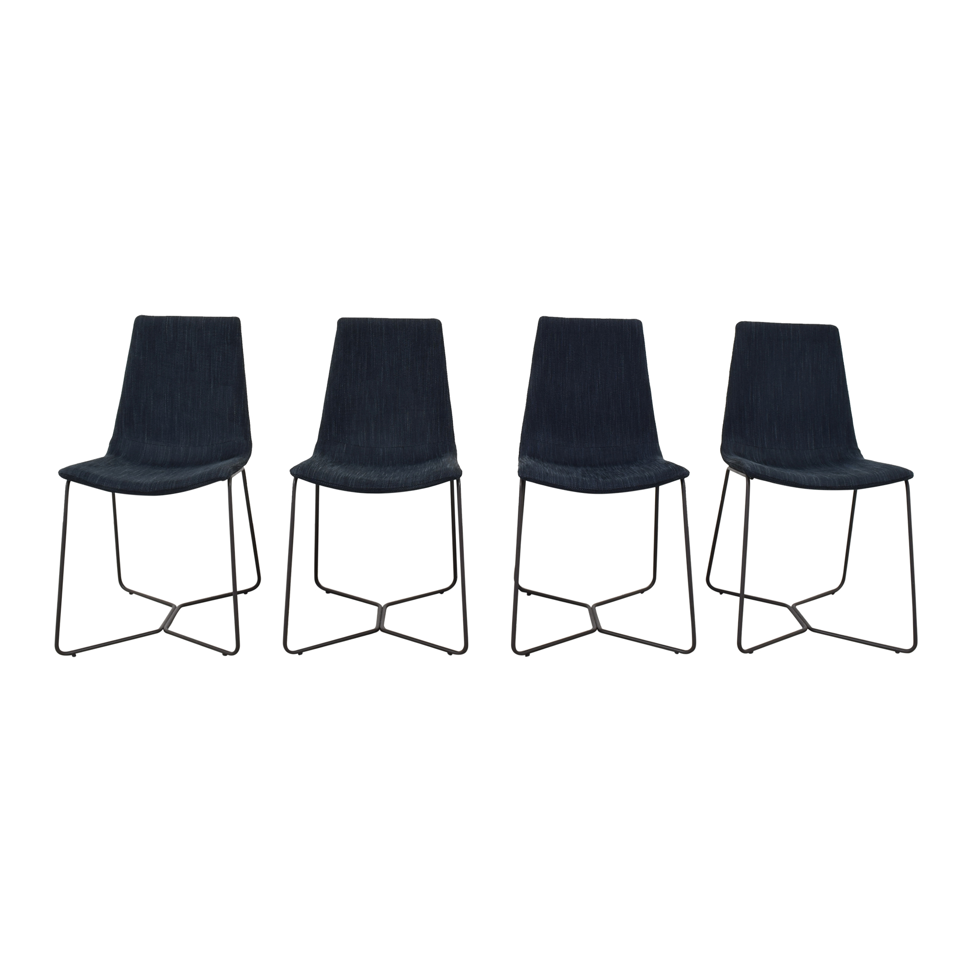 West Elm West Elm Slope Upholstered Dining Chairs ct