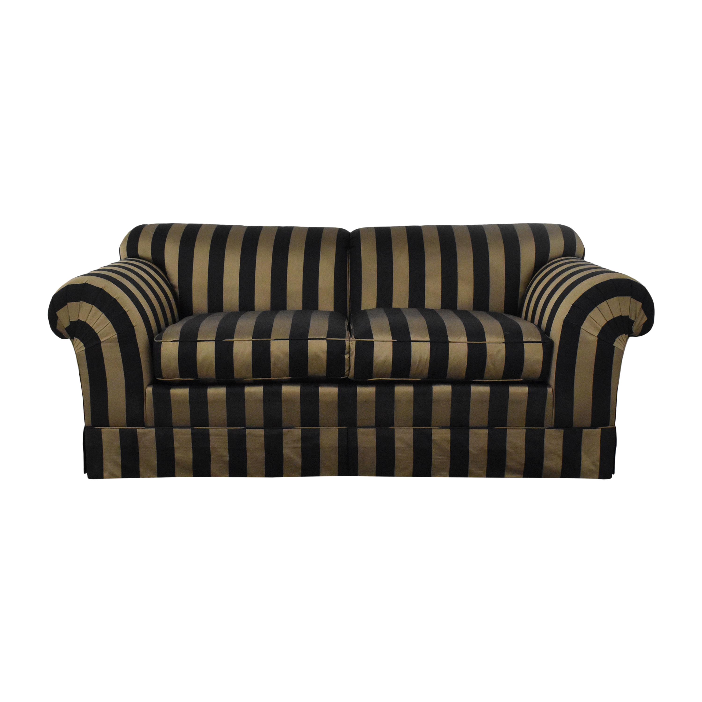 shop Baker Furniture Striped Roll Arm Sofa Baker Furniture Sofas