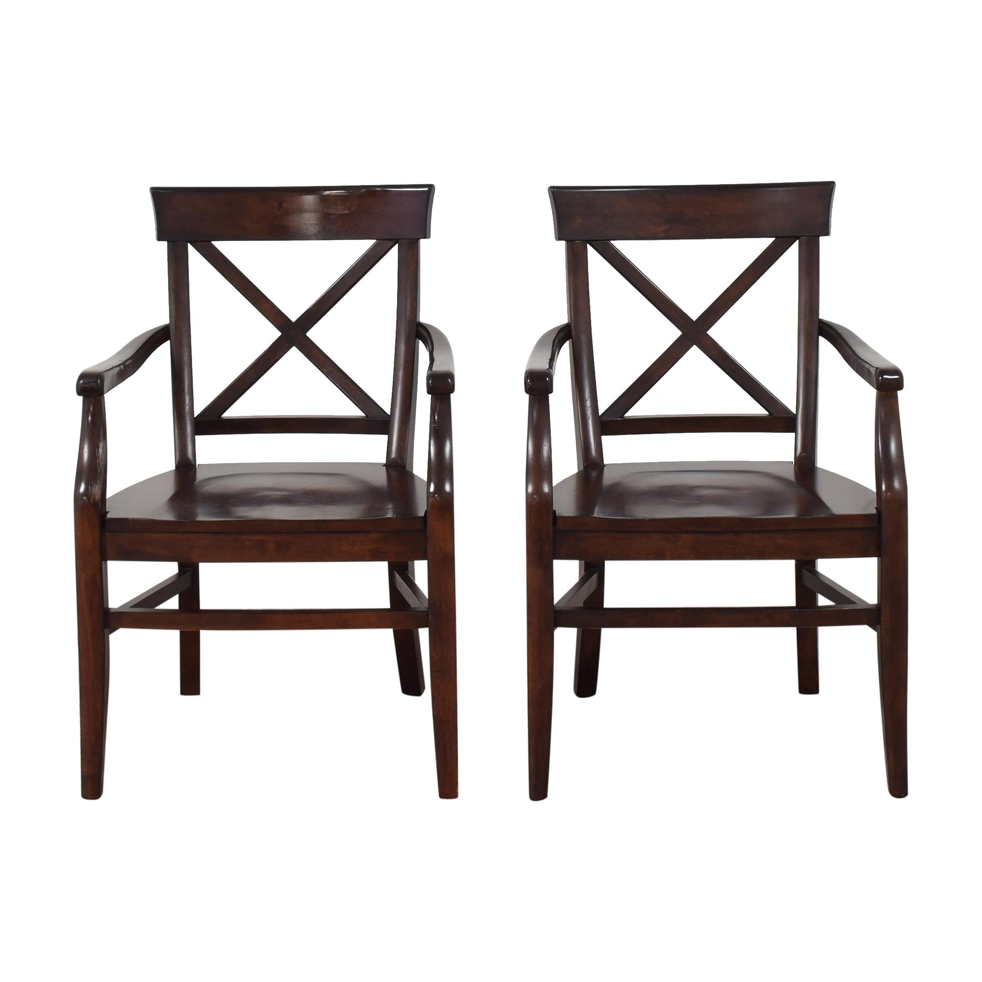 Pottery Barn Pottery Barn Aaron Dining Arm Chairs nj