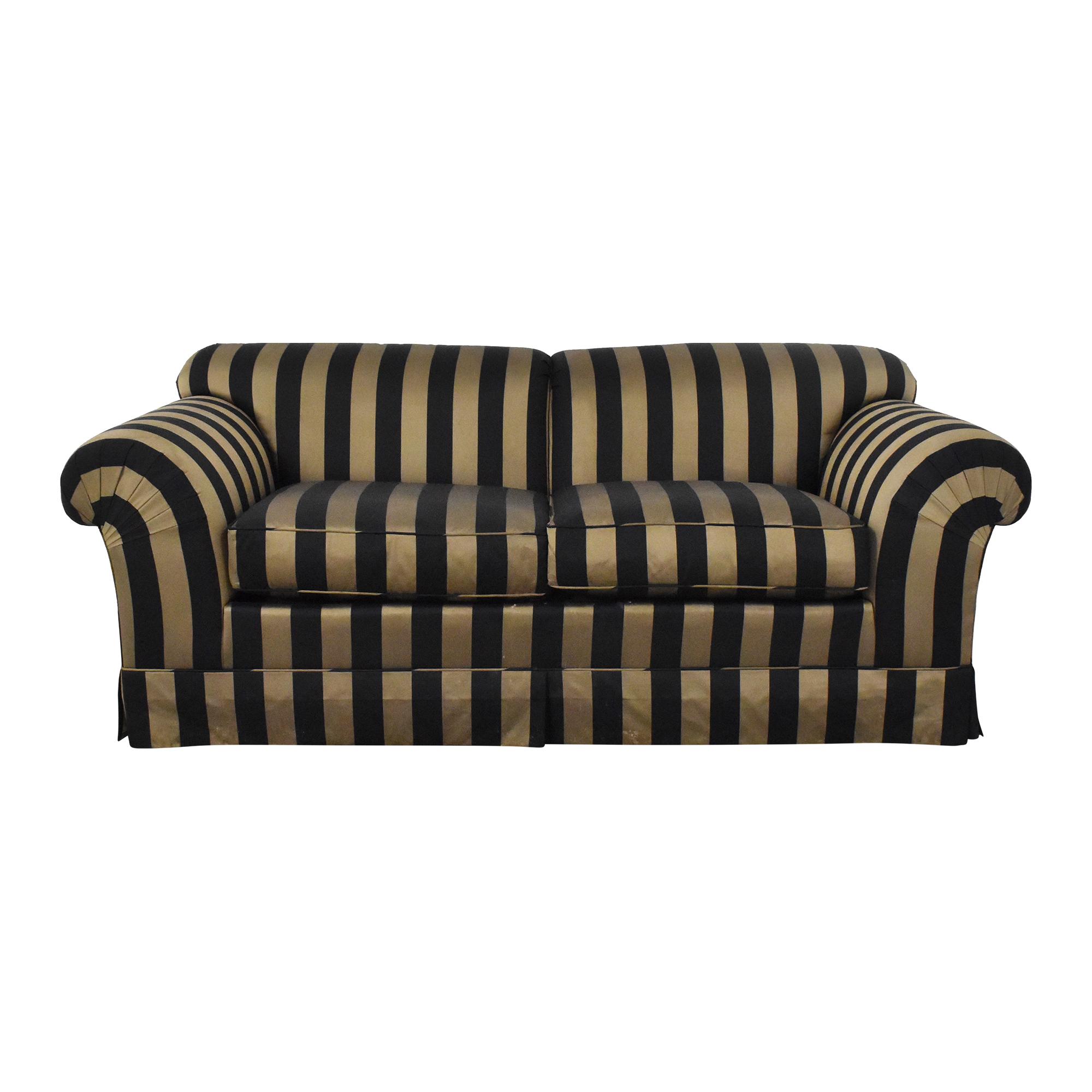 buy Baker Furniture Striped Roll Arm Sofa Baker Furniture