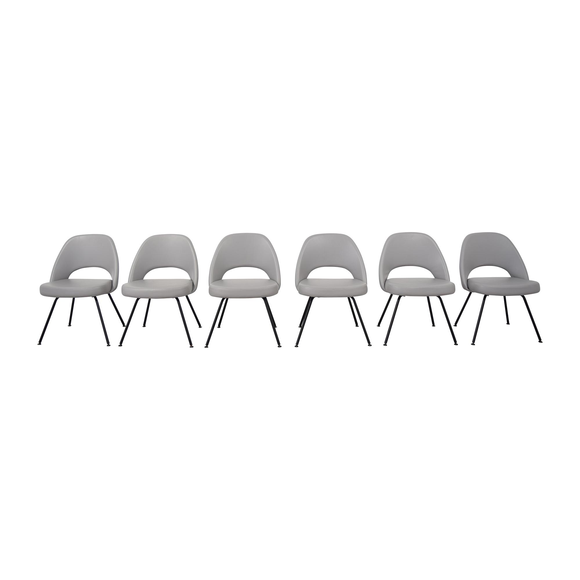 Knoll Knoll Saarinen Executive Armless Chairs grey