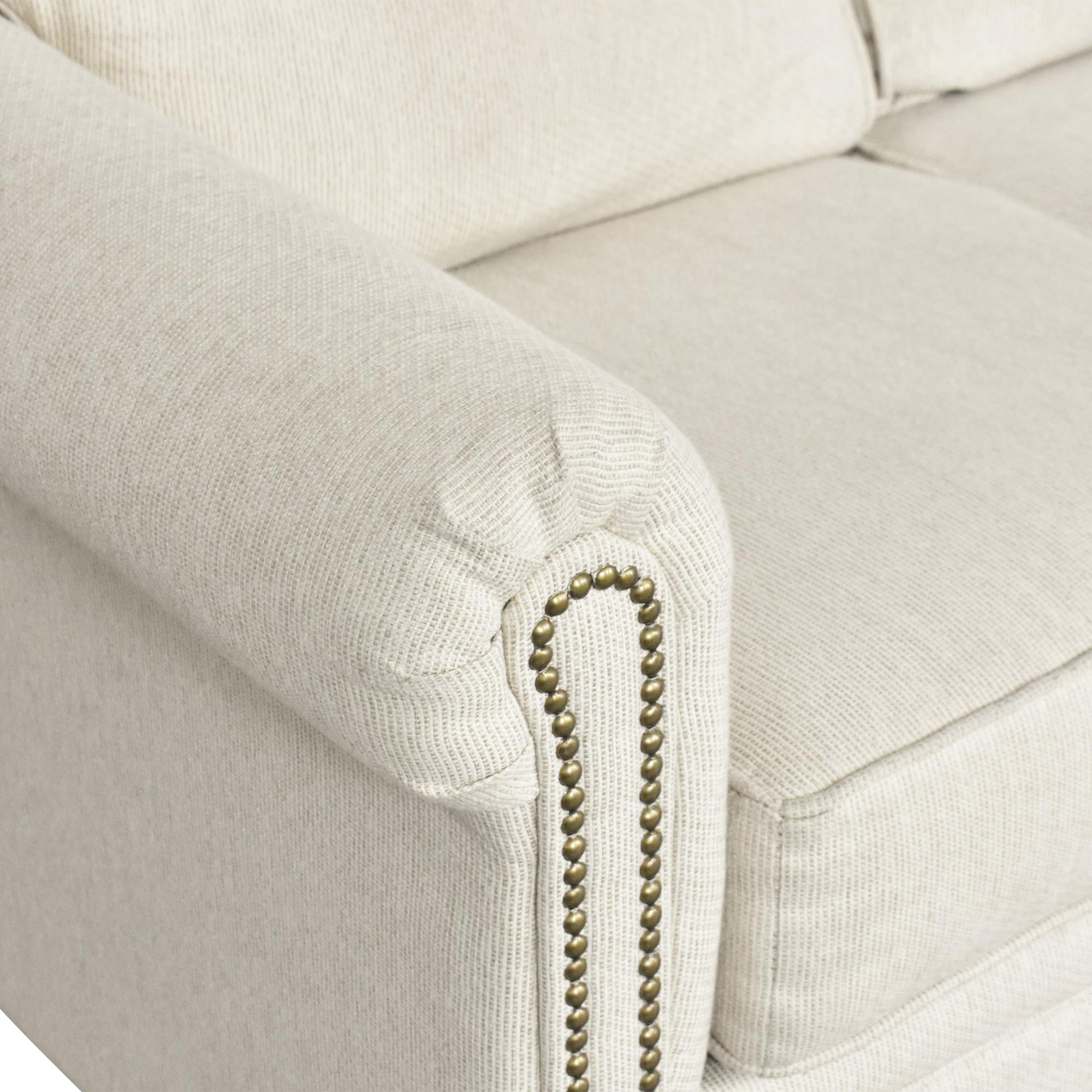 Hughes Furniture Hughes Furniture Roll Arm Nailhead Sofa second hand