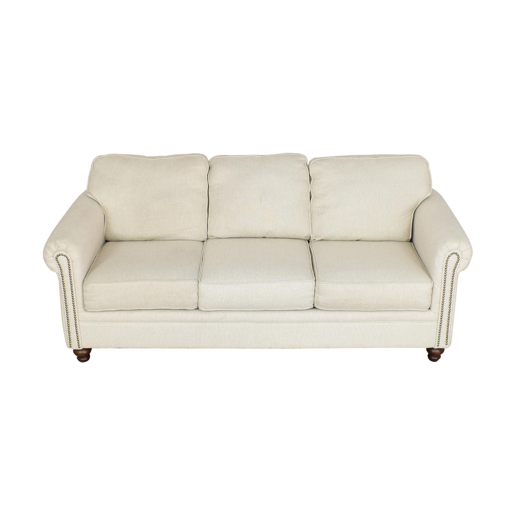 buy Hughes Furniture Roll Arm Nailhead Sofa Hughes Furniture Classic Sofas