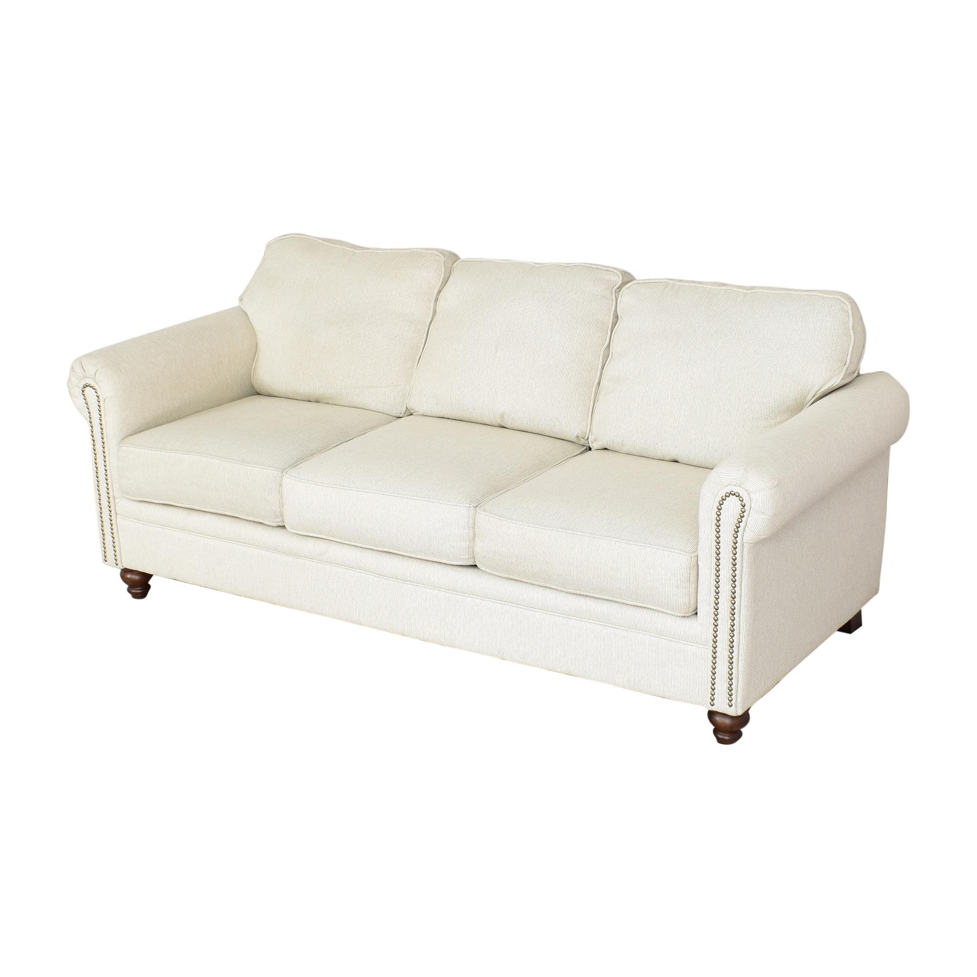 shop Hughes Furniture Roll Arm Nailhead Sofa Hughes Furniture Sofas