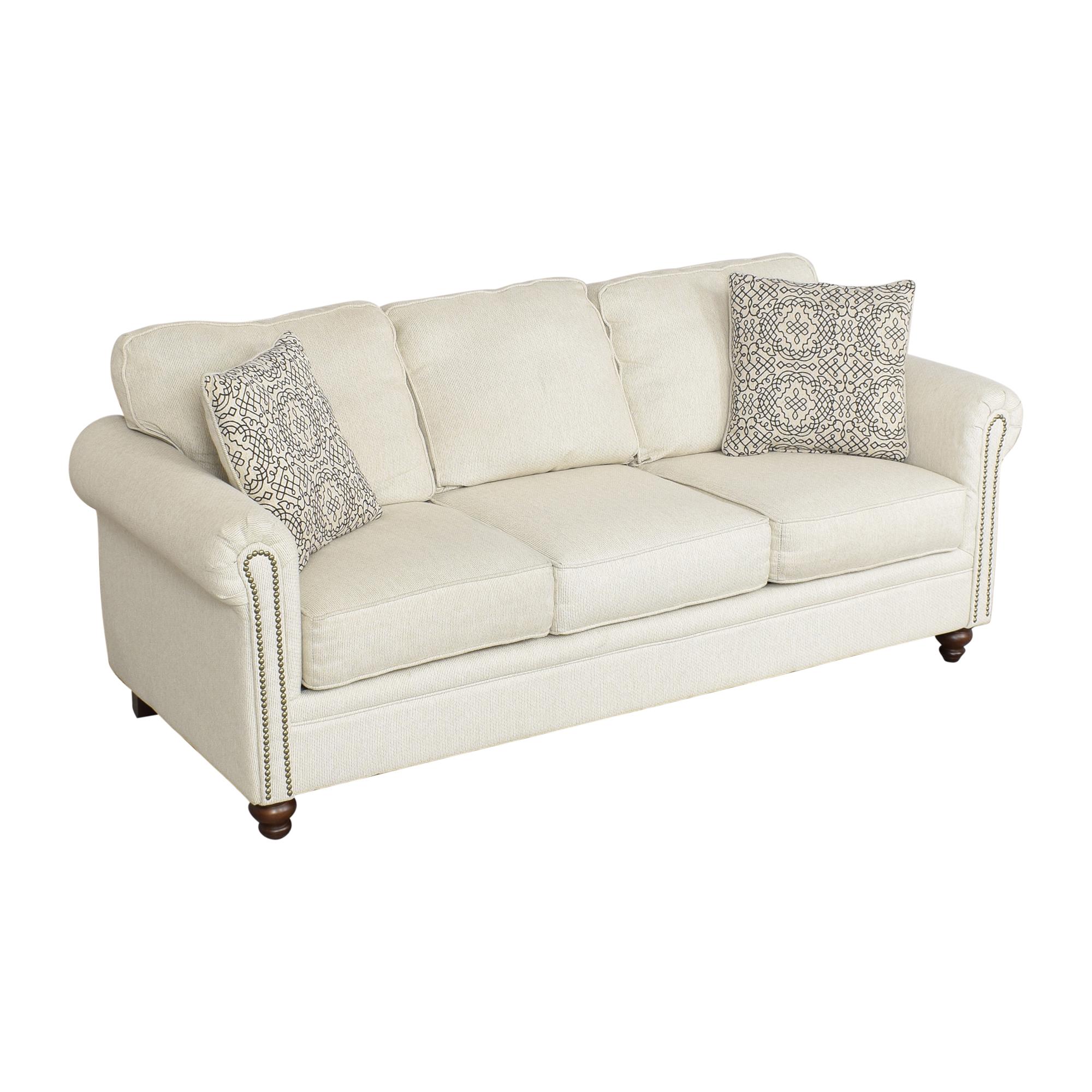 buy Hughes Furniture Hughes Furniture Roll Arm Nailhead Sofa online