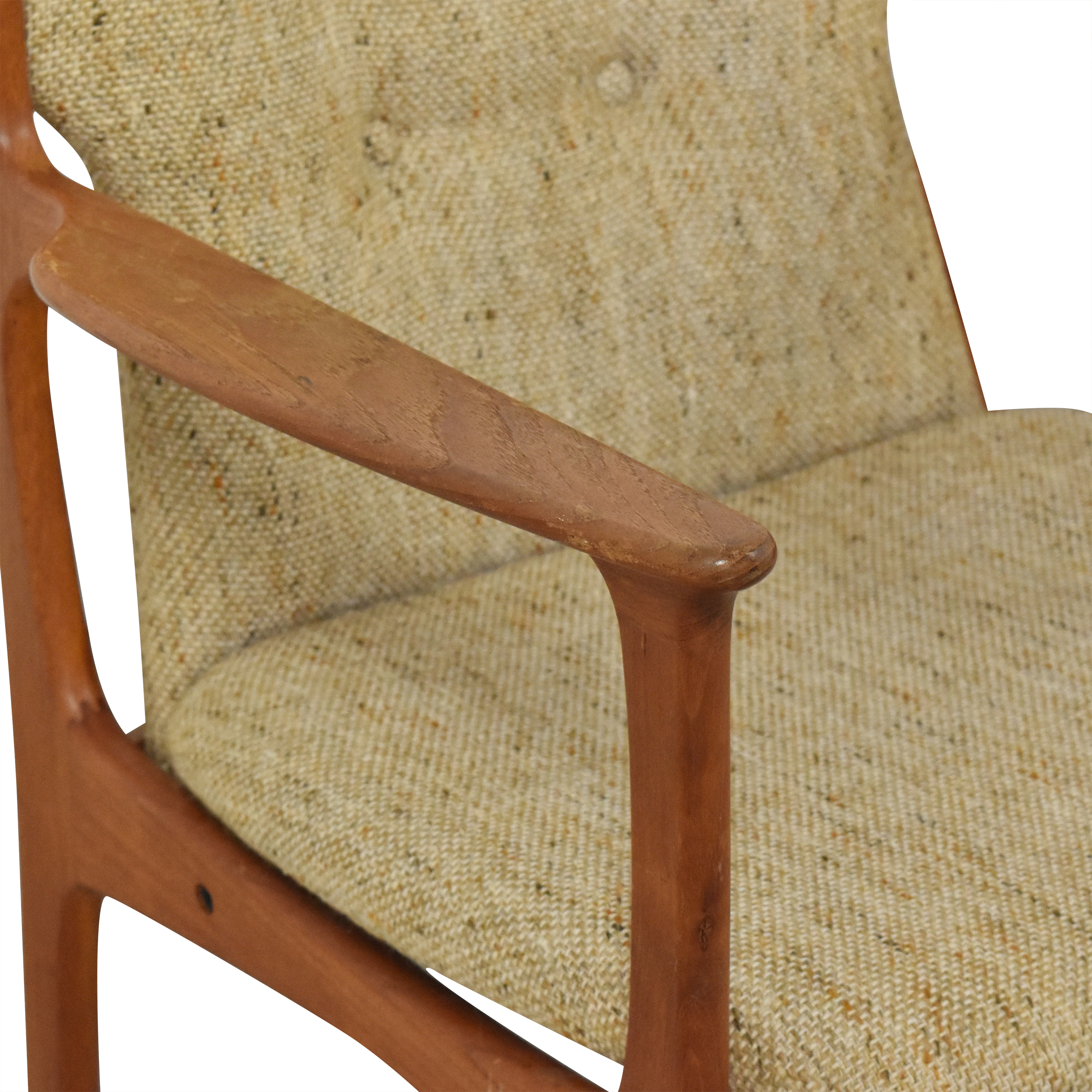 Vintage Danish Upholstered Dining Chairs  Chairs
