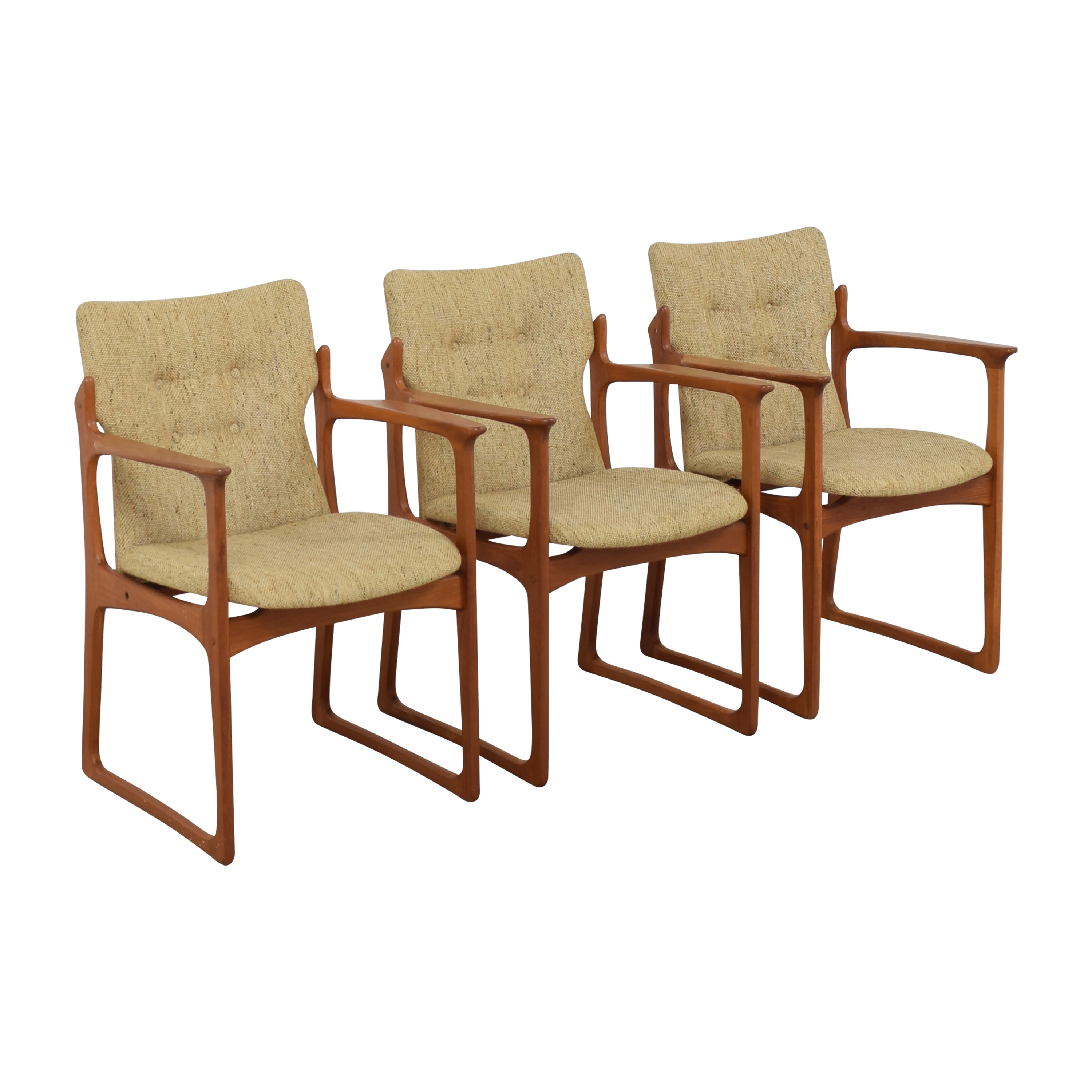 Vintage Danish Upholstered Dining Chairs  on sale