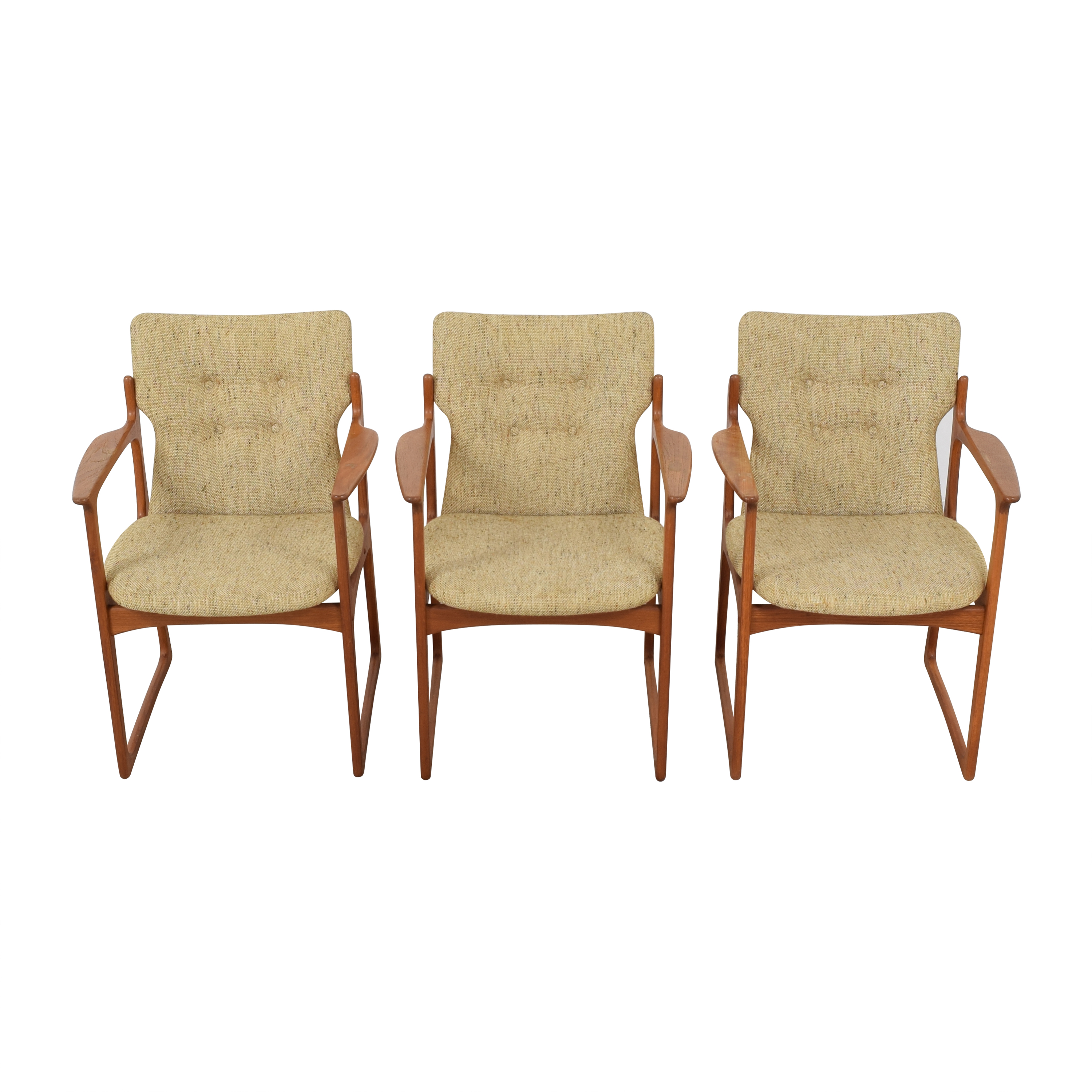 Vintage Danish Upholstered Dining Chairs  discount