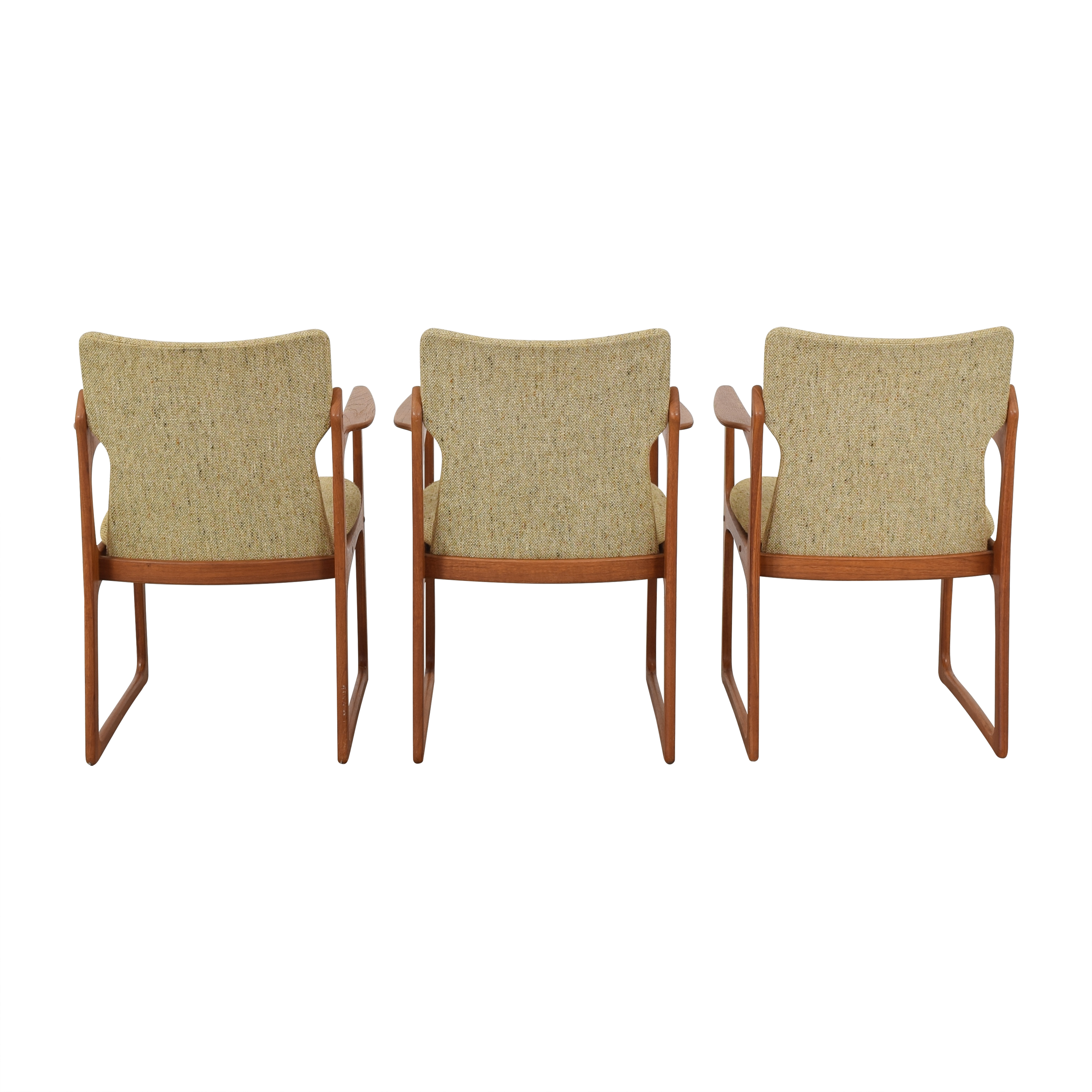 Vintage Danish Upholstered Dining Chairs  dimensions