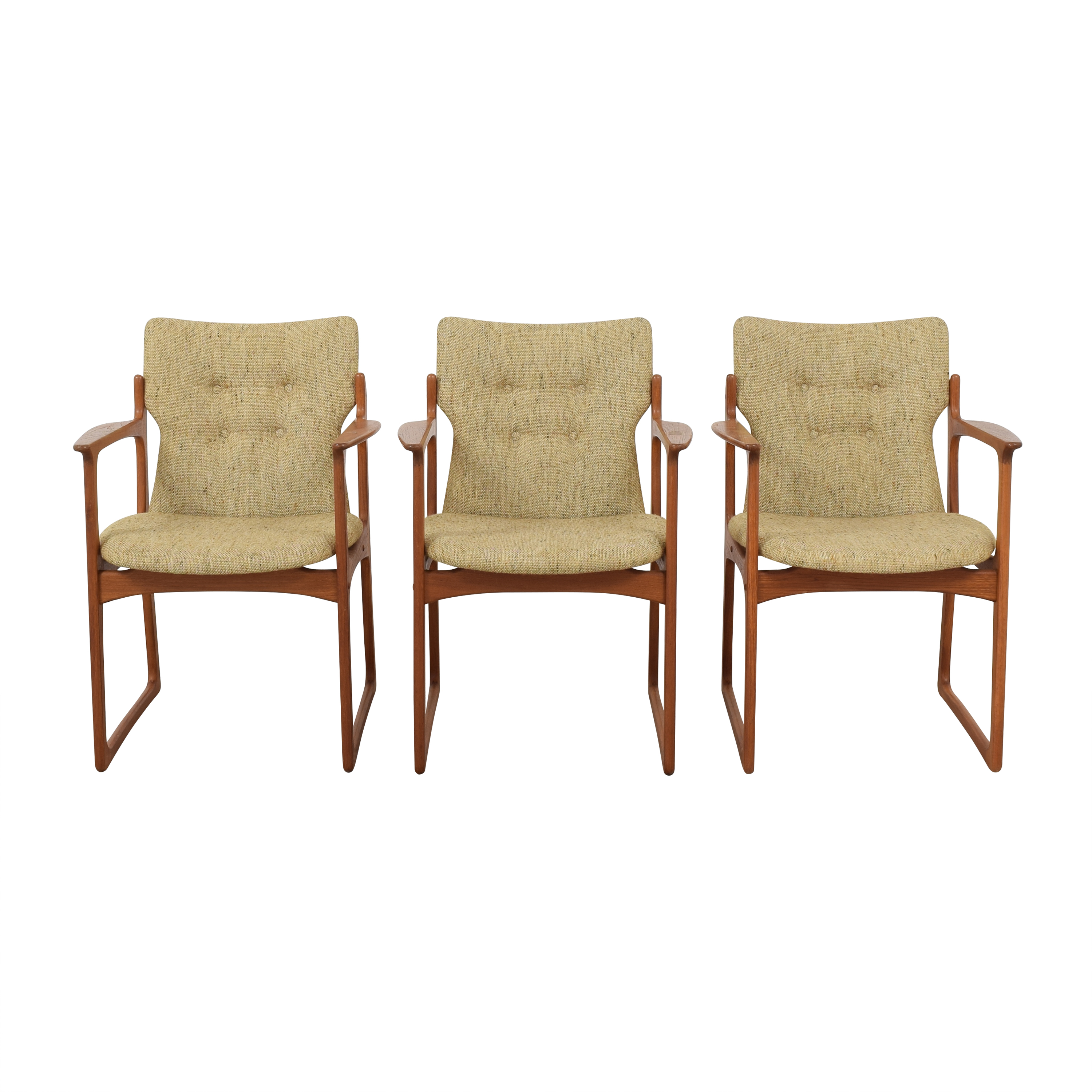 buy Vintage Danish Upholstered Dining Chairs