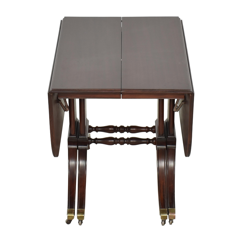 Brandt Furniture Brandt Furniture Drop-Leaf Extendable Dining Table dimensions