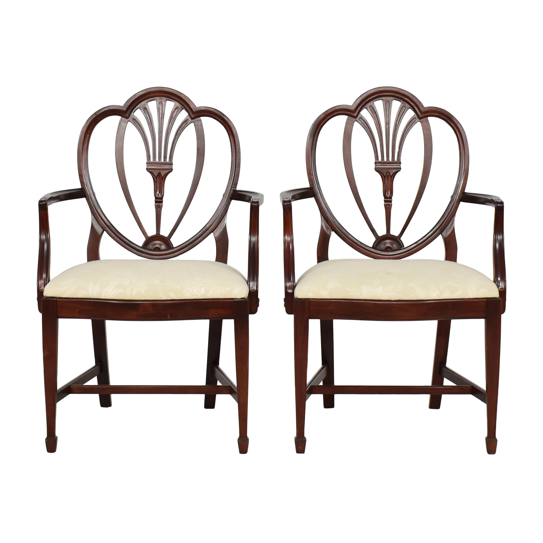 J.B. Van Sciver Furniture Dining Arm Chairs  J.B. Van Sciver Furniture