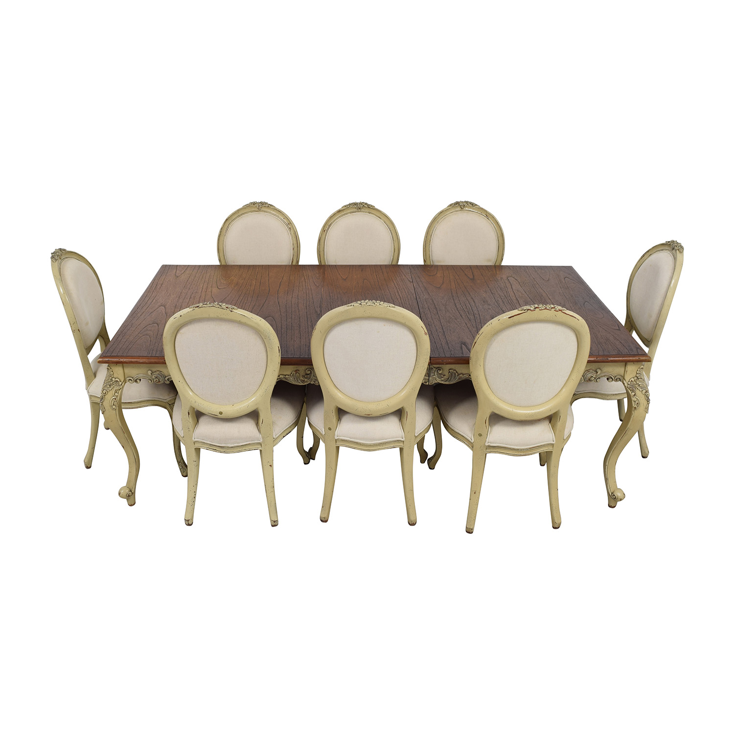 Custom Built Wood Dining Table with Chairs sale