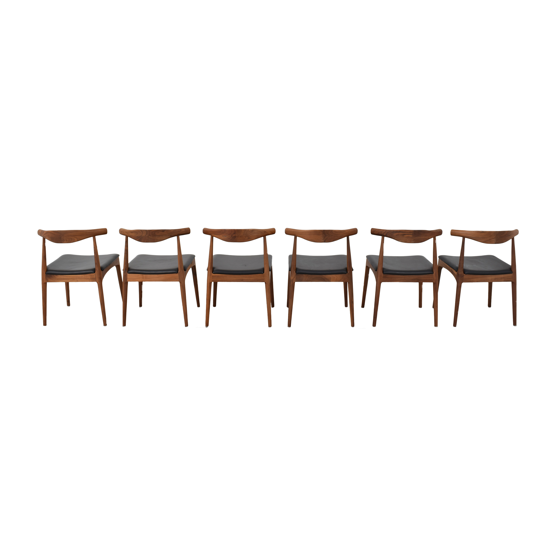 Organic Modernism Organic Modernism Skandy Dining Chairs dimensions