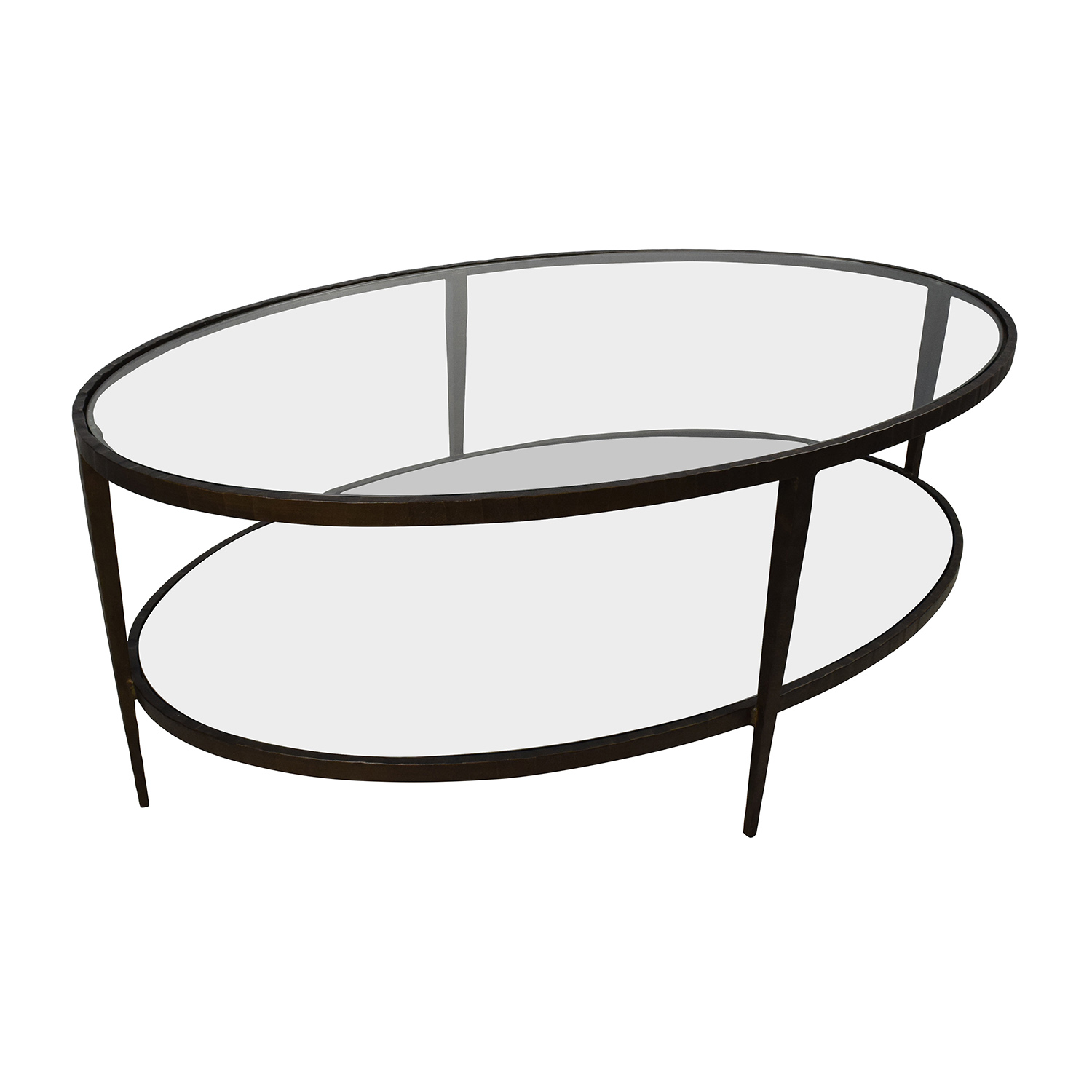 50 Off Crate Barrel Crate Barrel Clairmont Glass Coffee Table Tables
