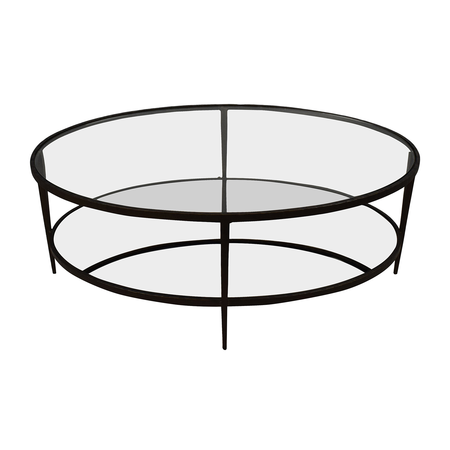 Crate & Barrel Crate & Barrel Clairmont Glass Coffee Table on sale
