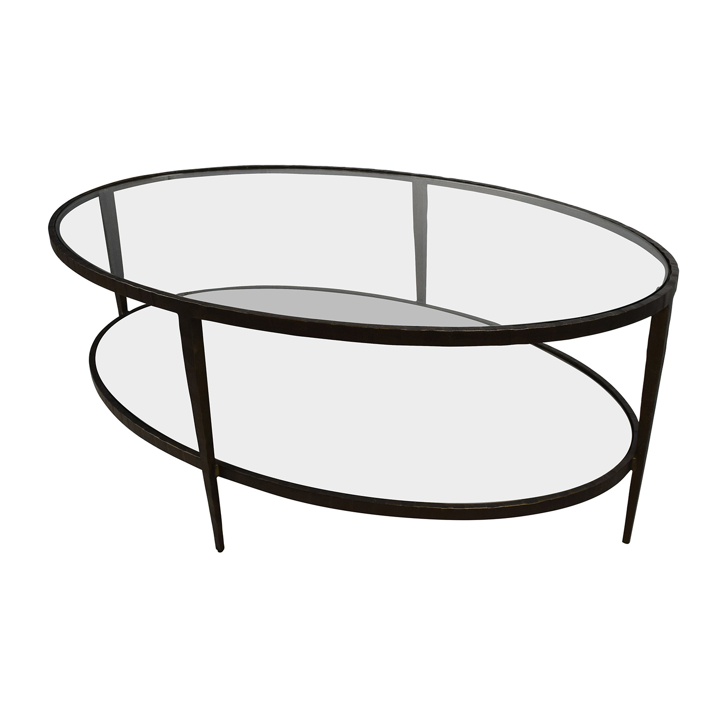 50 Off Crate Barrel Clairmont Gl Coffee Table Tables