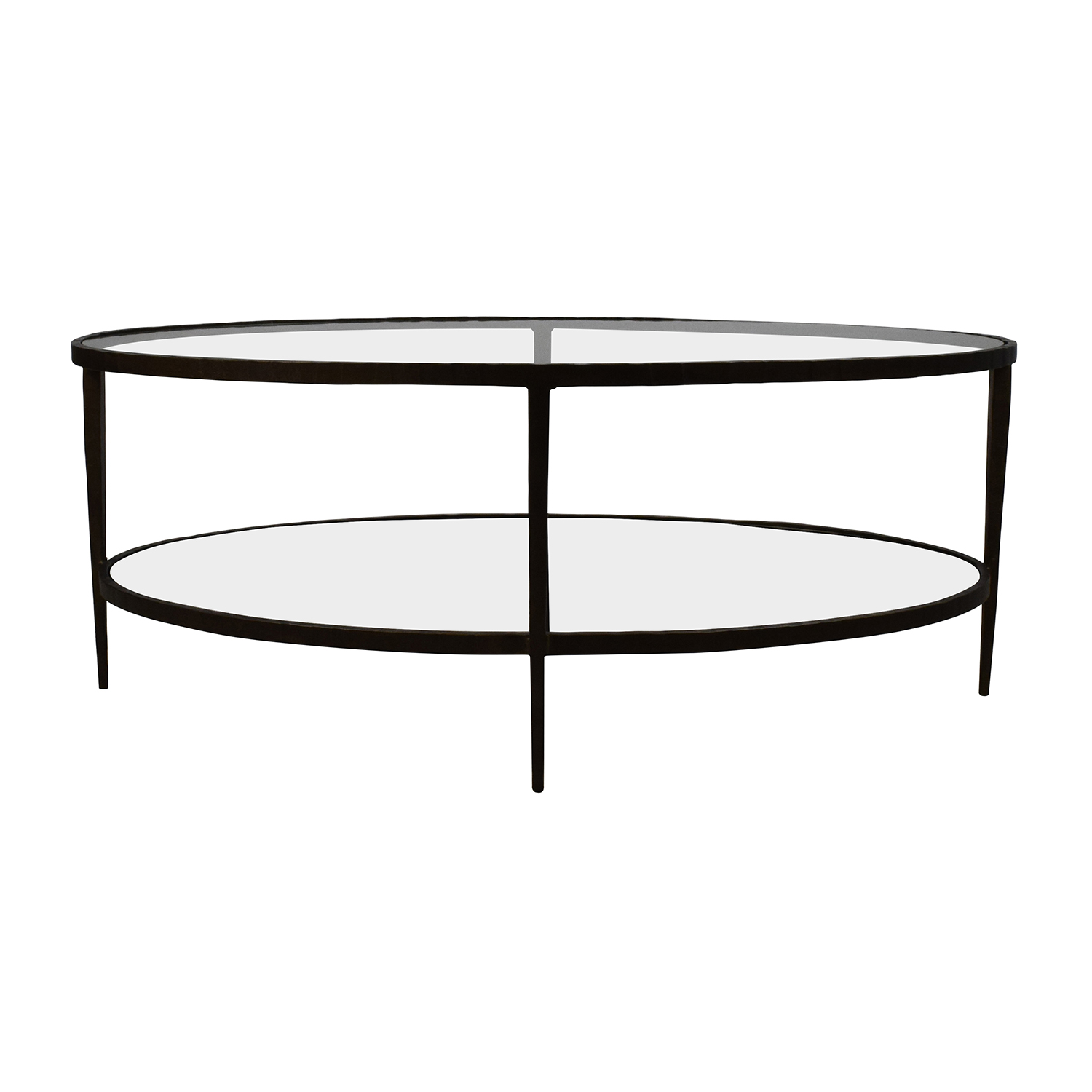 Crate & Barrel Crate & Barrel Clairmont Glass Coffee Table second hand