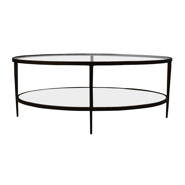 Attirant 50% OFF   Crate U0026 Barrel Crate U0026 Barrel Clairmont Glass Coffee Table /  Tables