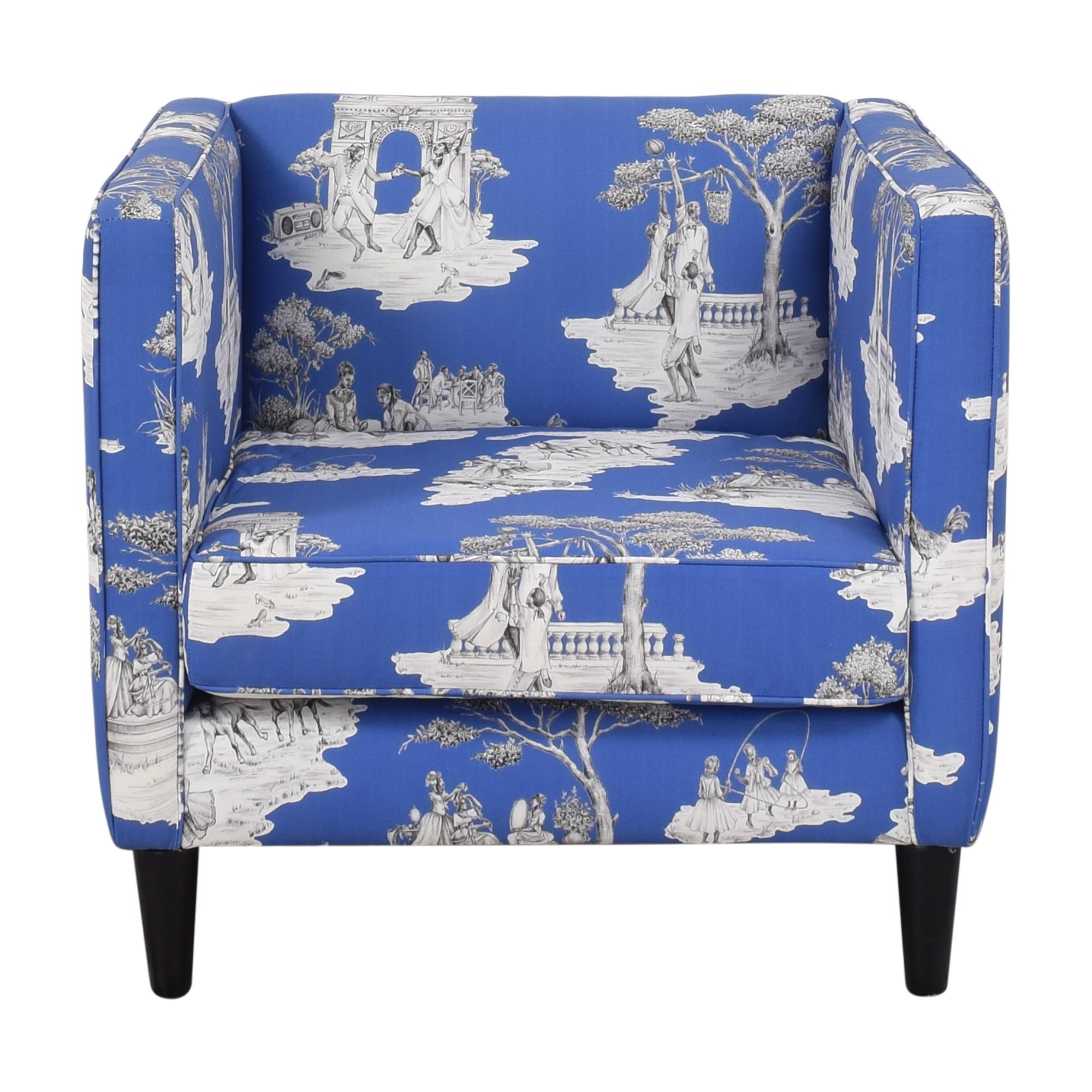 The Inside Paris Blues Harlem Toile de Jouy Tuxedo Chair sale