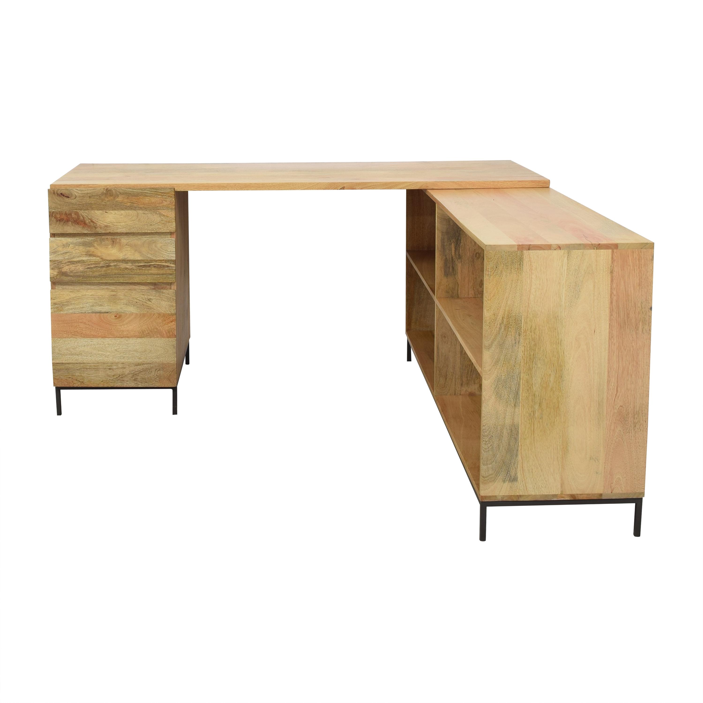 West Elm West Elm Industrial Modular Desk Set dimensions