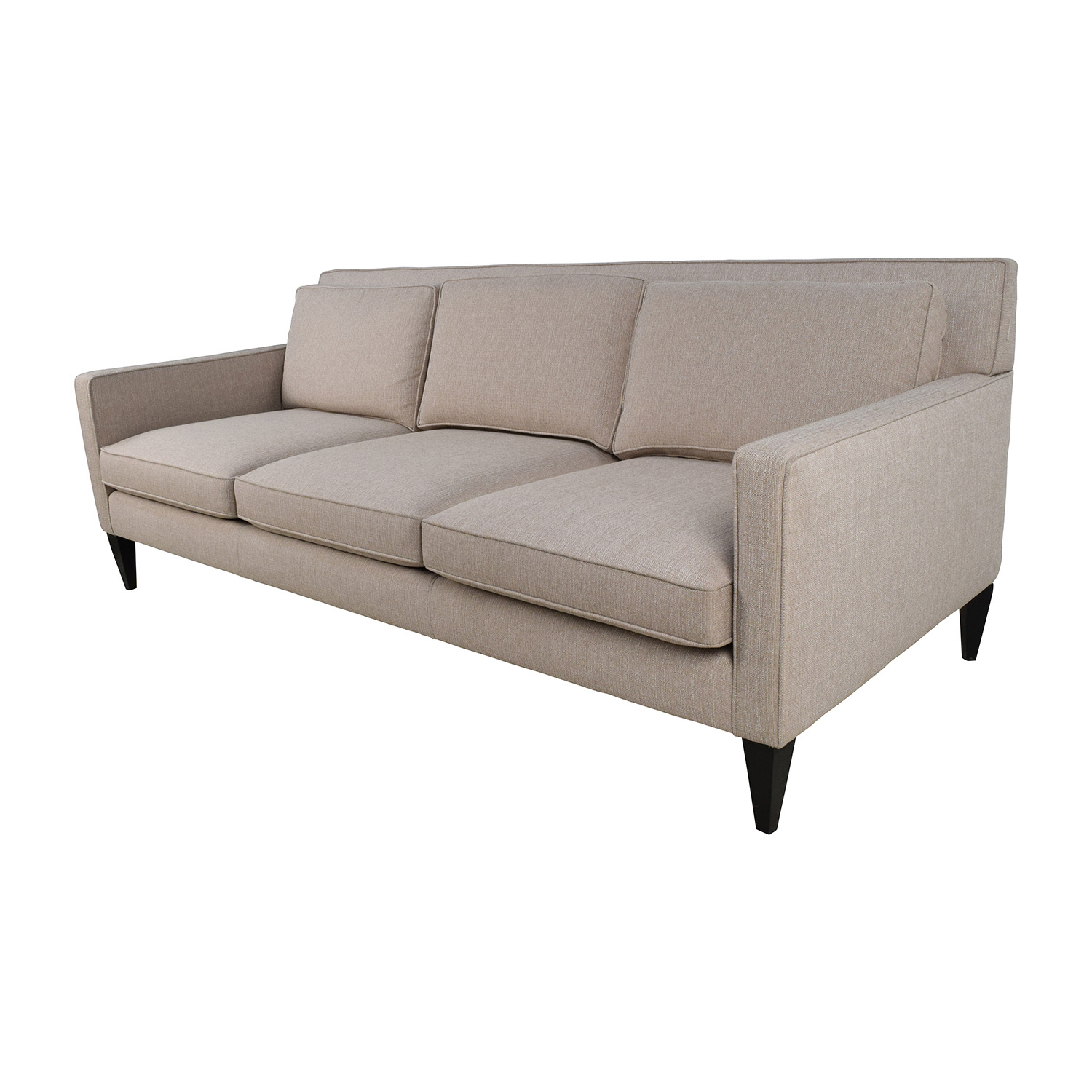 69% off - crate and barrel crate & barrel rochelle desert sofa / sofas